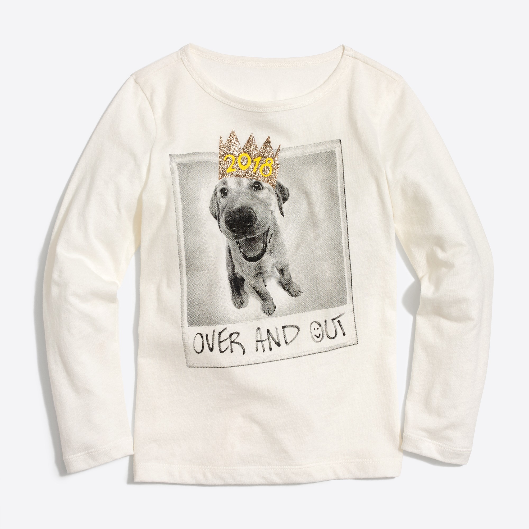Girls' long-sleeve dog 2018 keepsake T-shirt