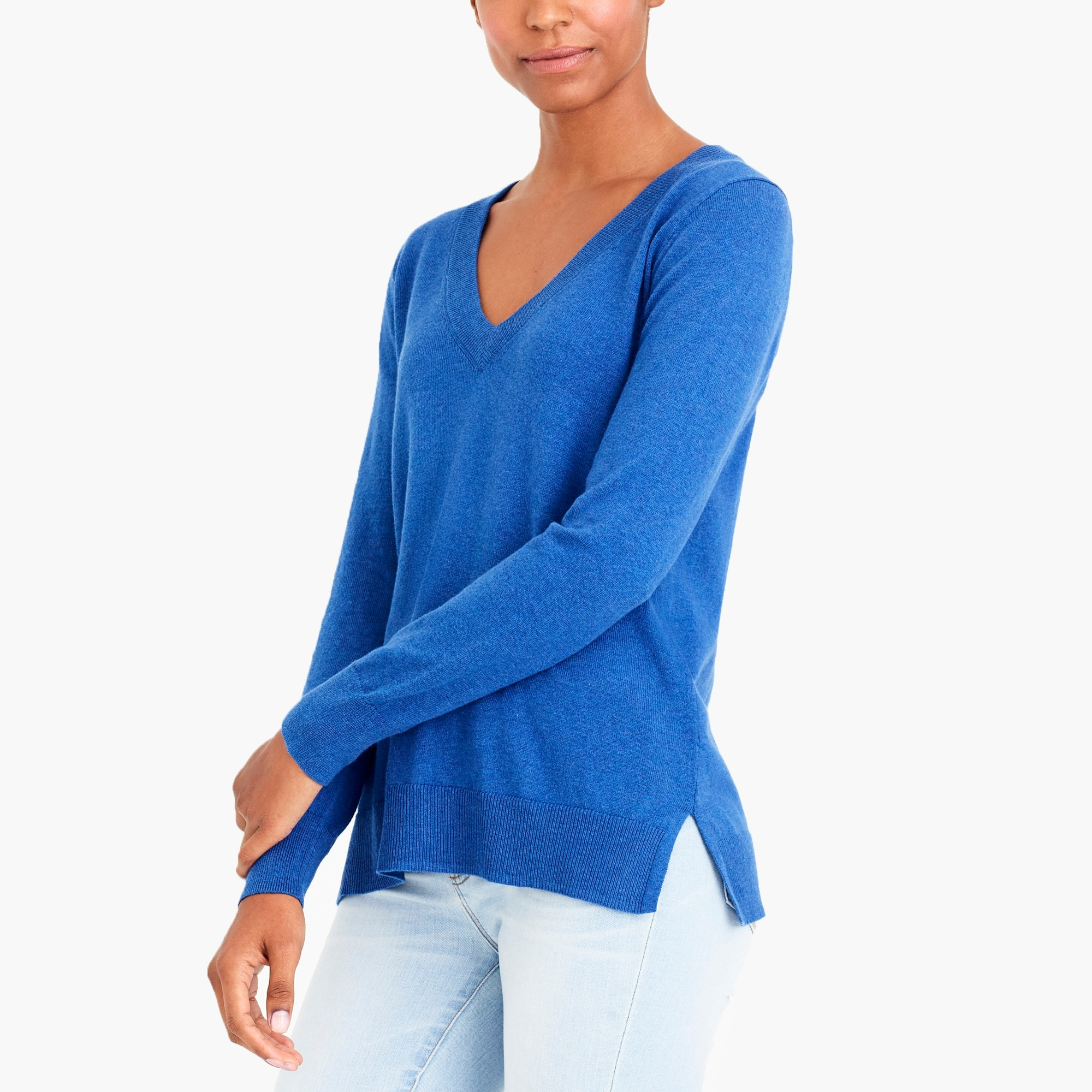 cotton v-neck sweater : factorywomen sweaters