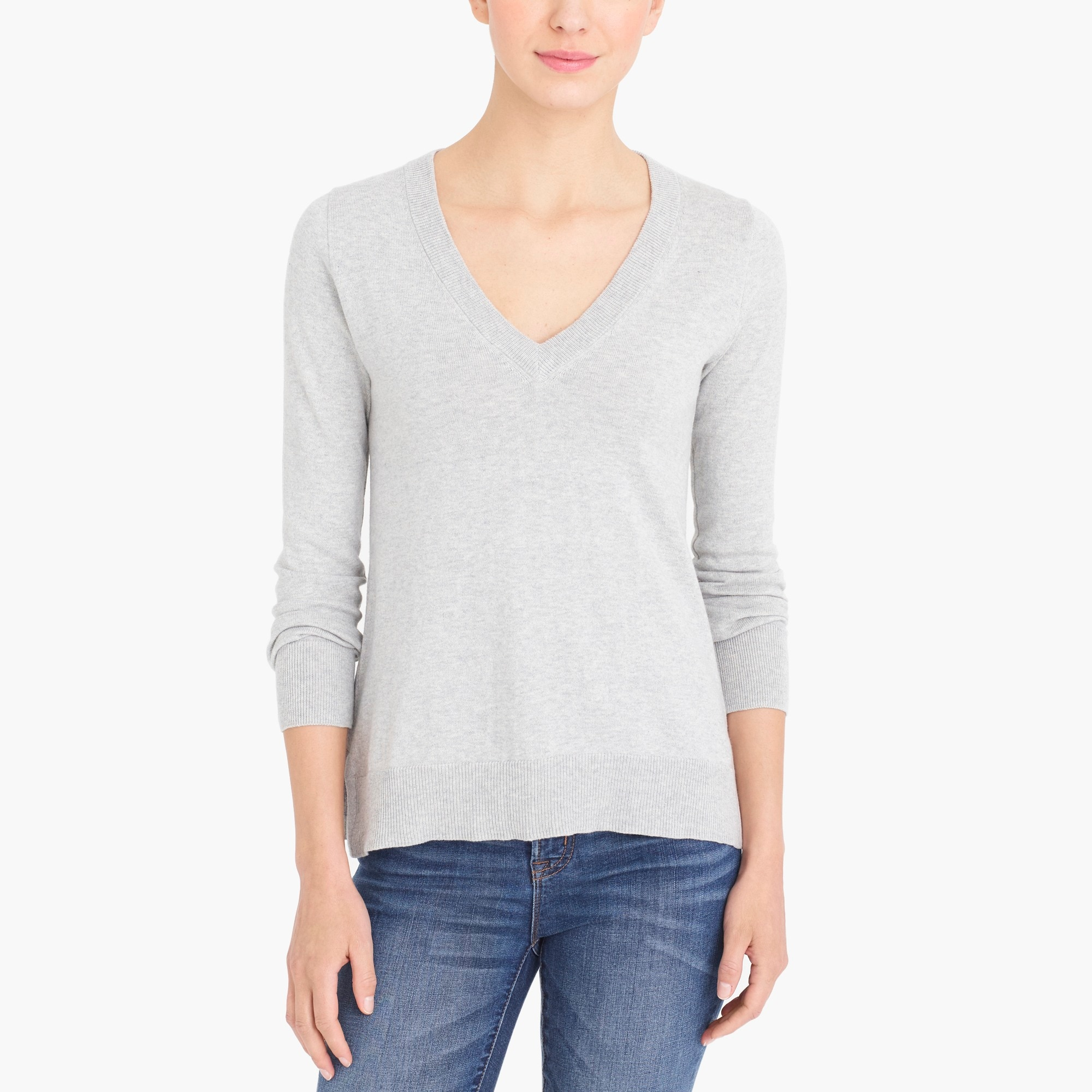 Cotton V-neck sweater factorywomen sweaters c