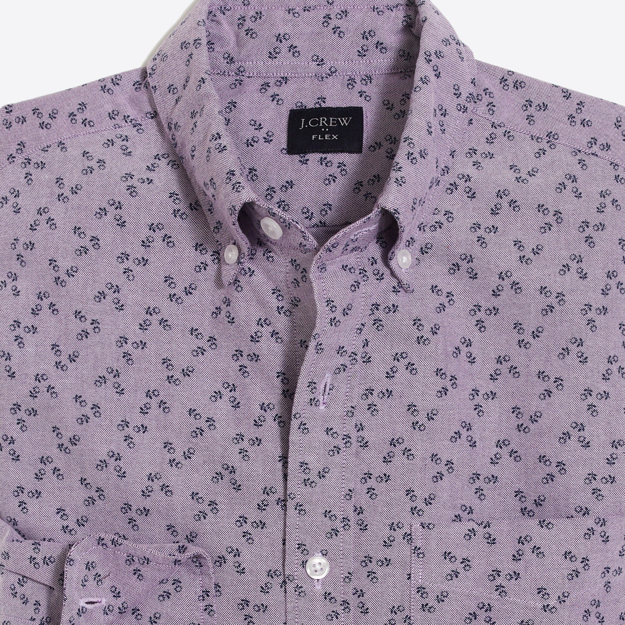 factory mens Slim flex oxford-printed shirt