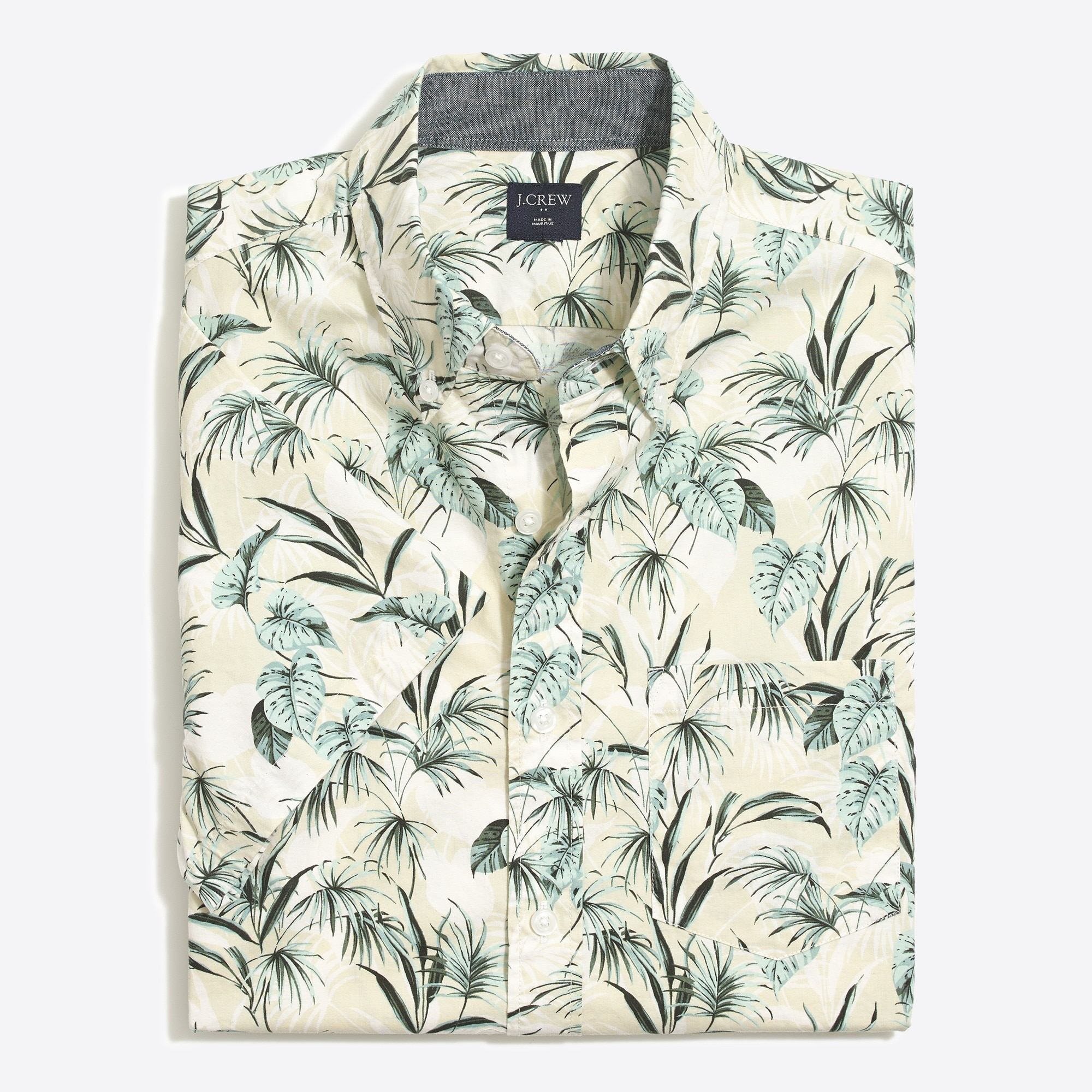 Image 4 for Slim-fit short-sleeve printed shirt