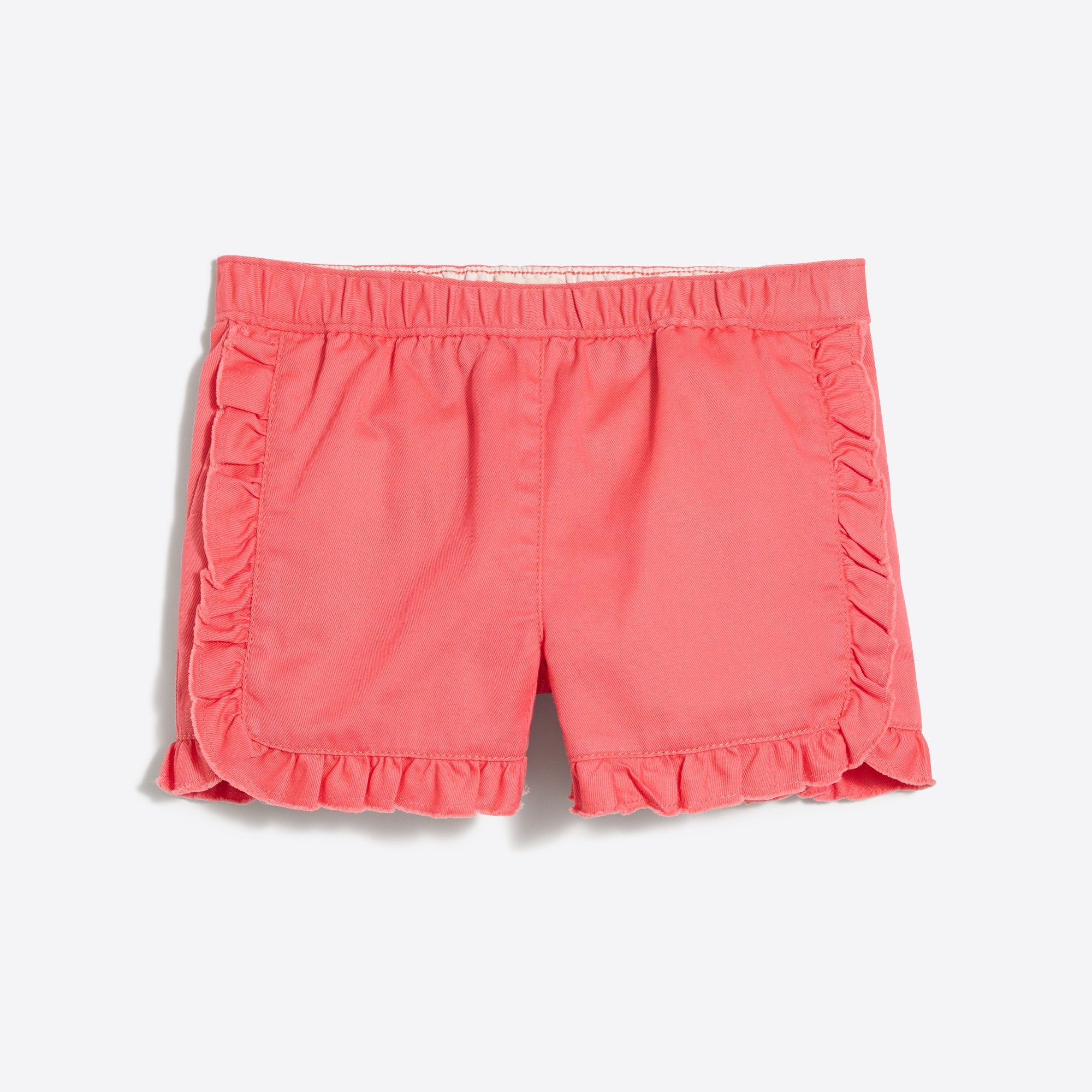 Girls' pull-on ruffle short in chino factorygirls shorts & rompers c