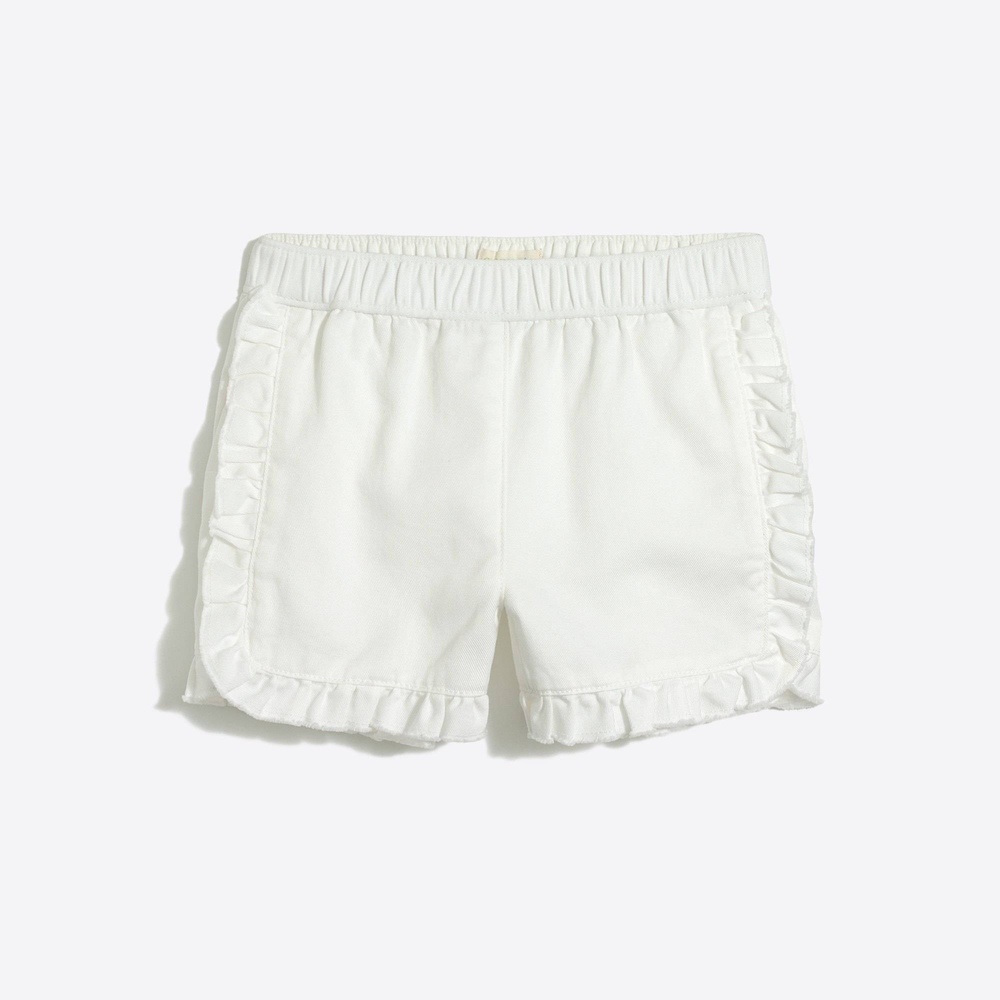 Girls' pull-on ruffle short in chino