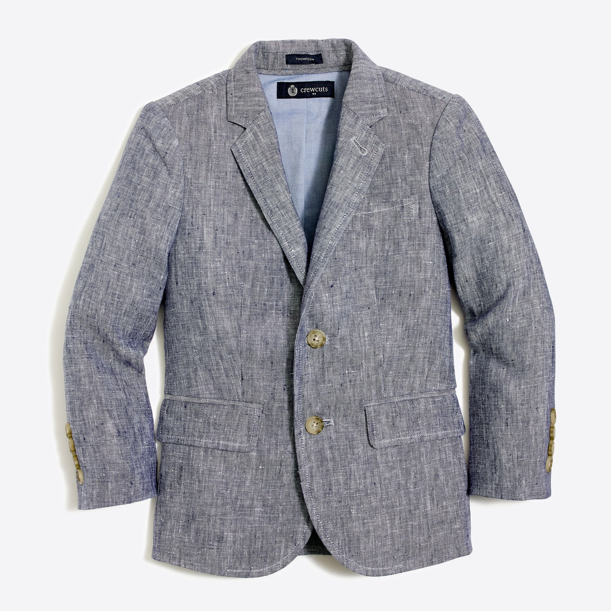 Boys' Thompson blazer in slub linen factoryboys blazers & vests c