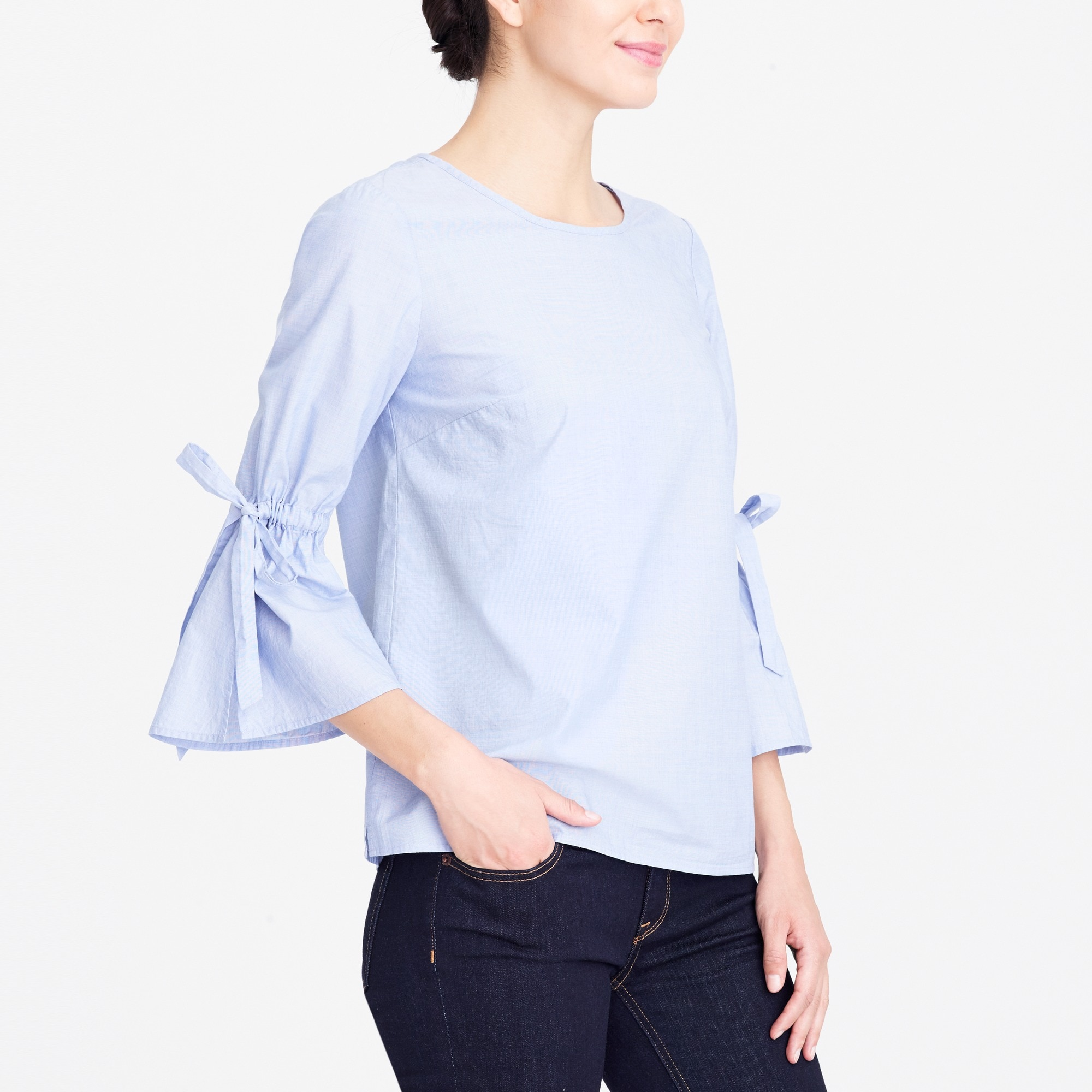 Bow-sleeve top factorywomen new arrivals c