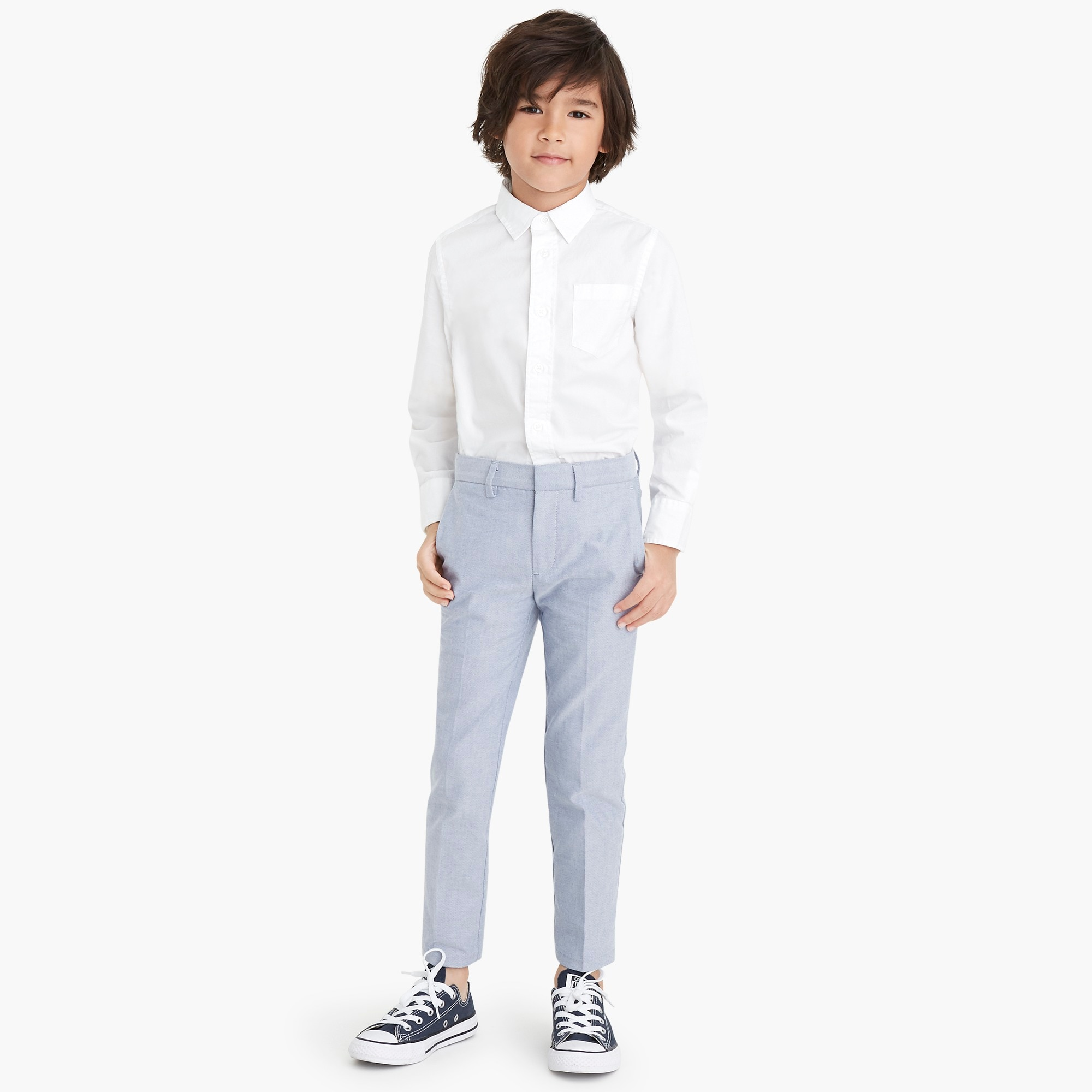 factory boys Boys'  Thompson suit pant in oxford