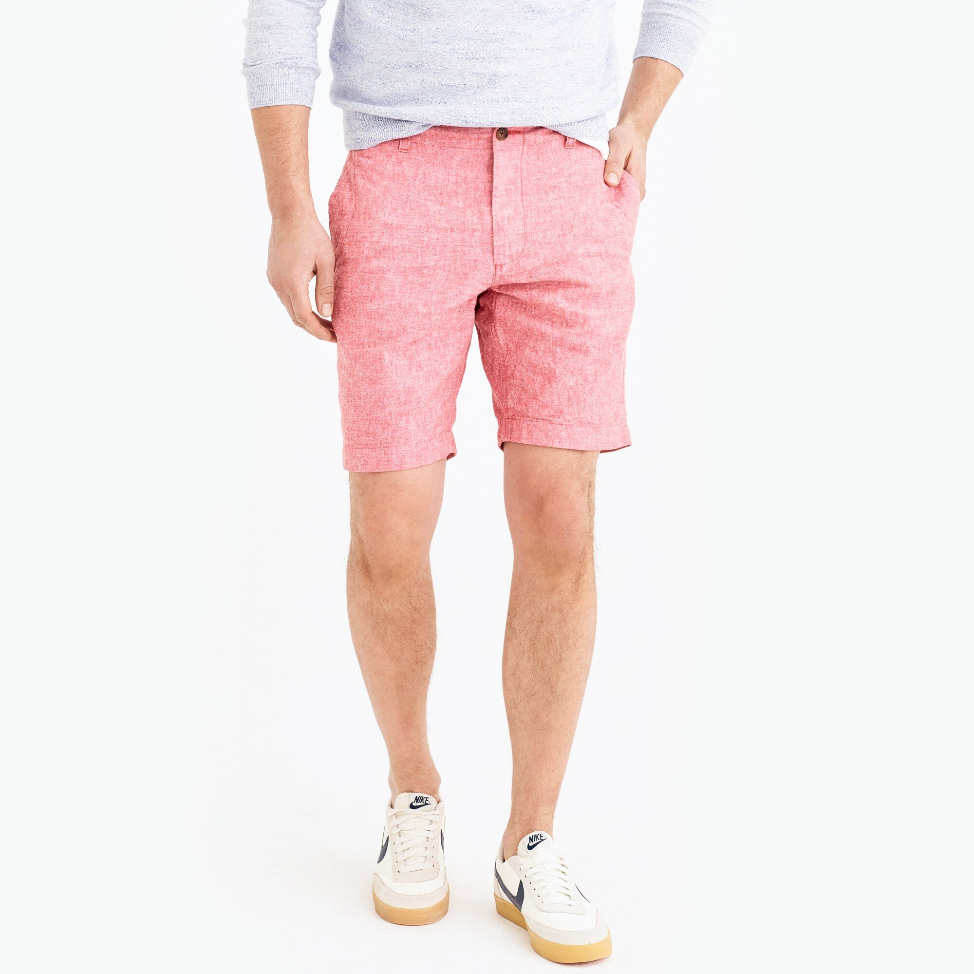 "9"" Gramercy cotton-linen short factorymen shorts c"