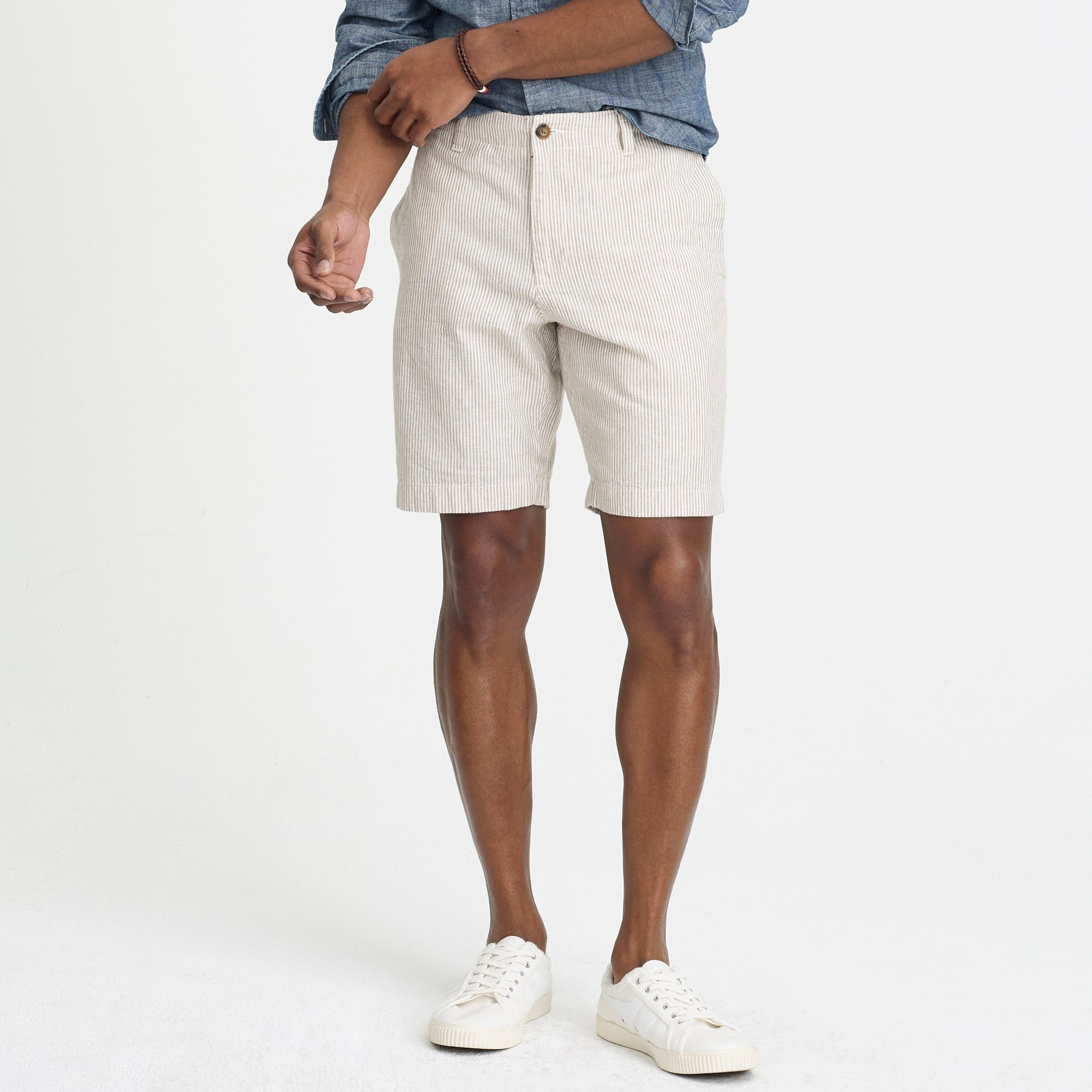 "9"" Gramercy cotton-linen short"