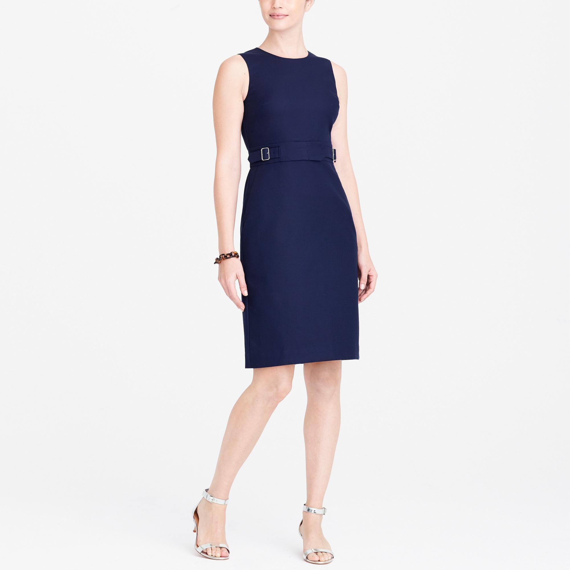 cotton belted dress : factorywomen wear to work