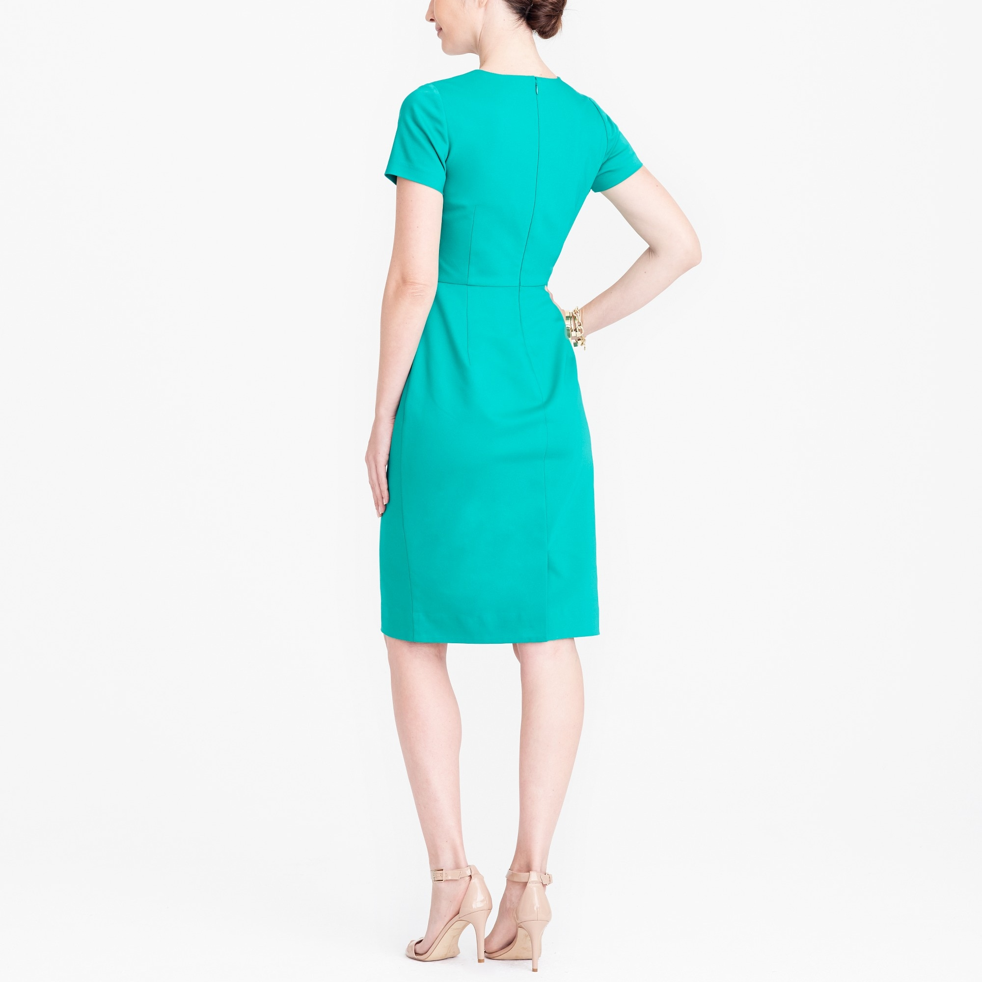 Cap-sleeve v-neck dress