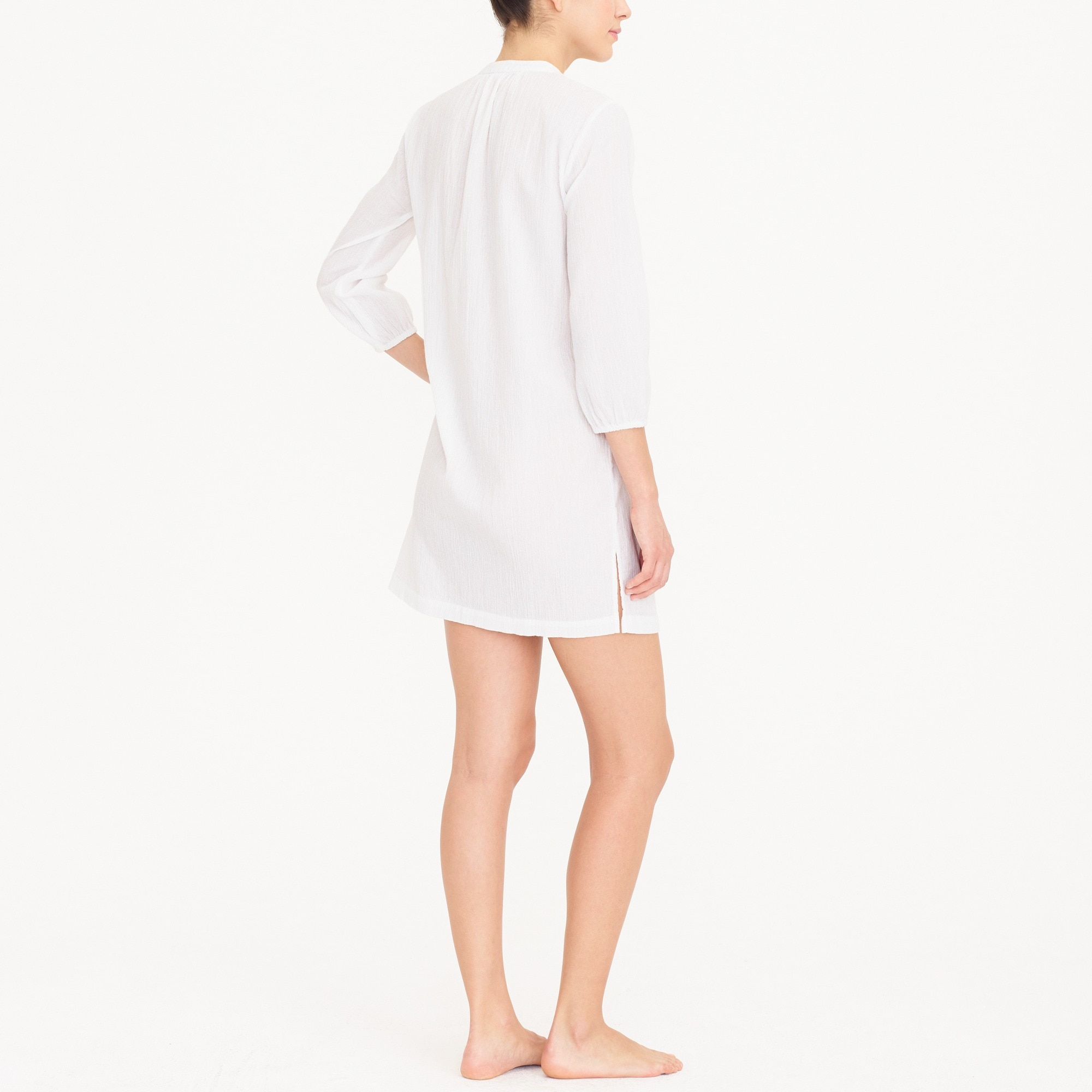 Pom-pom tunic cover-up