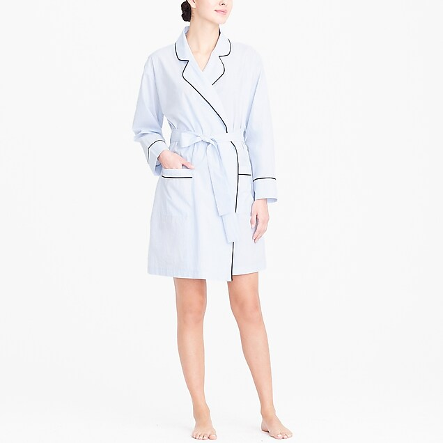 j.crew factory: robe in end-on-end cotton