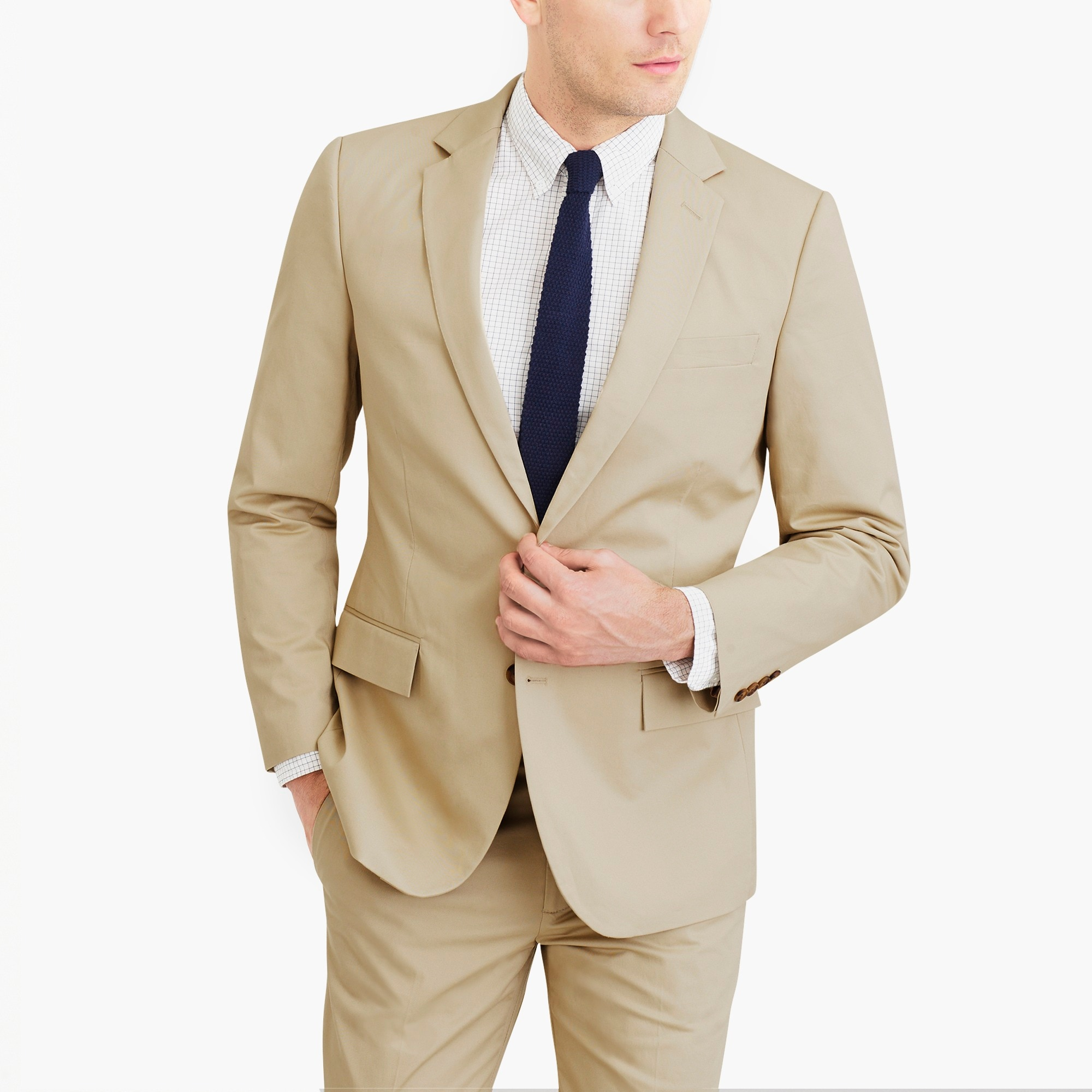 factory mens Slim-fit Thompson suit jacket in flex chino