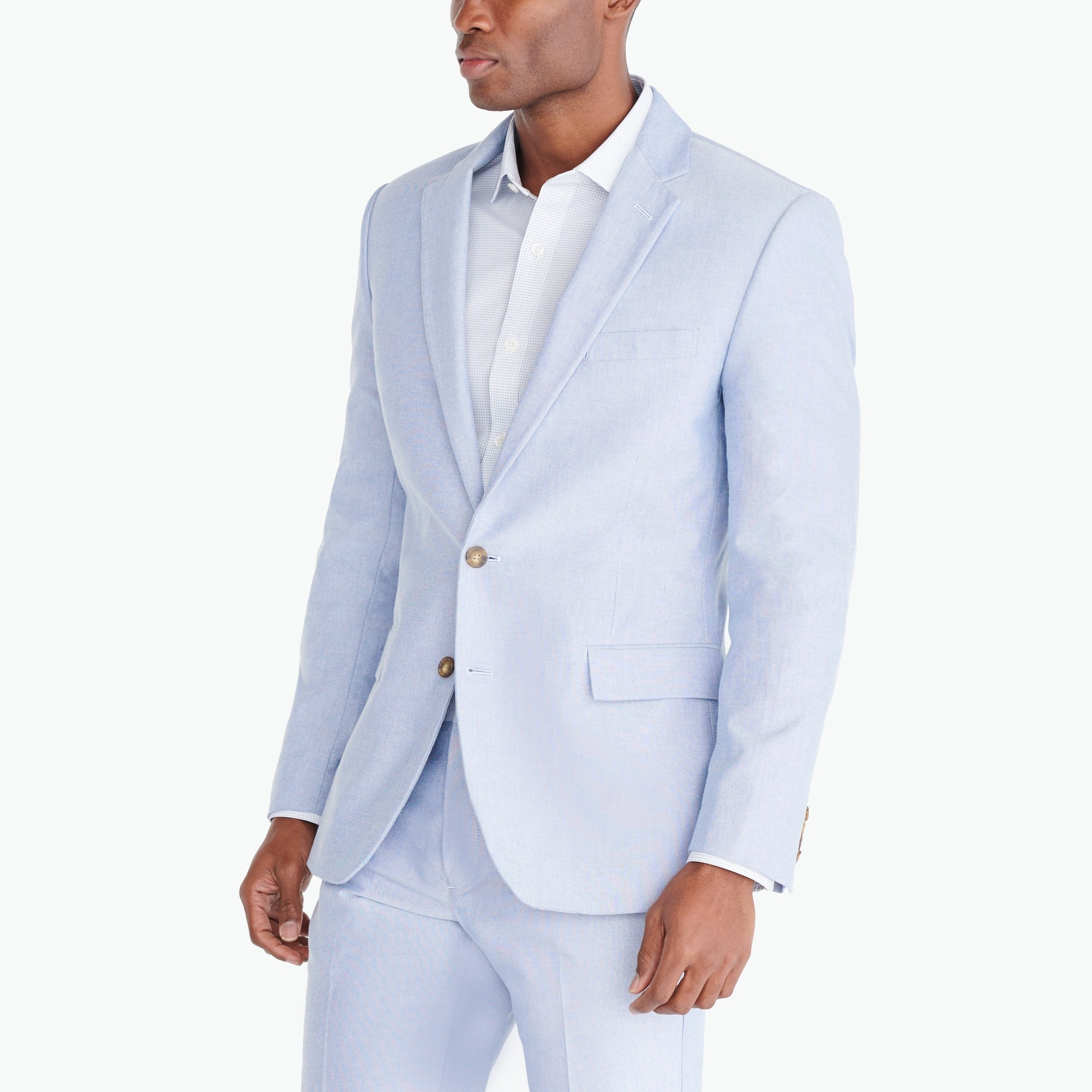 Image 2 for Slim-fit Thompson suit jacket in oxford cloth