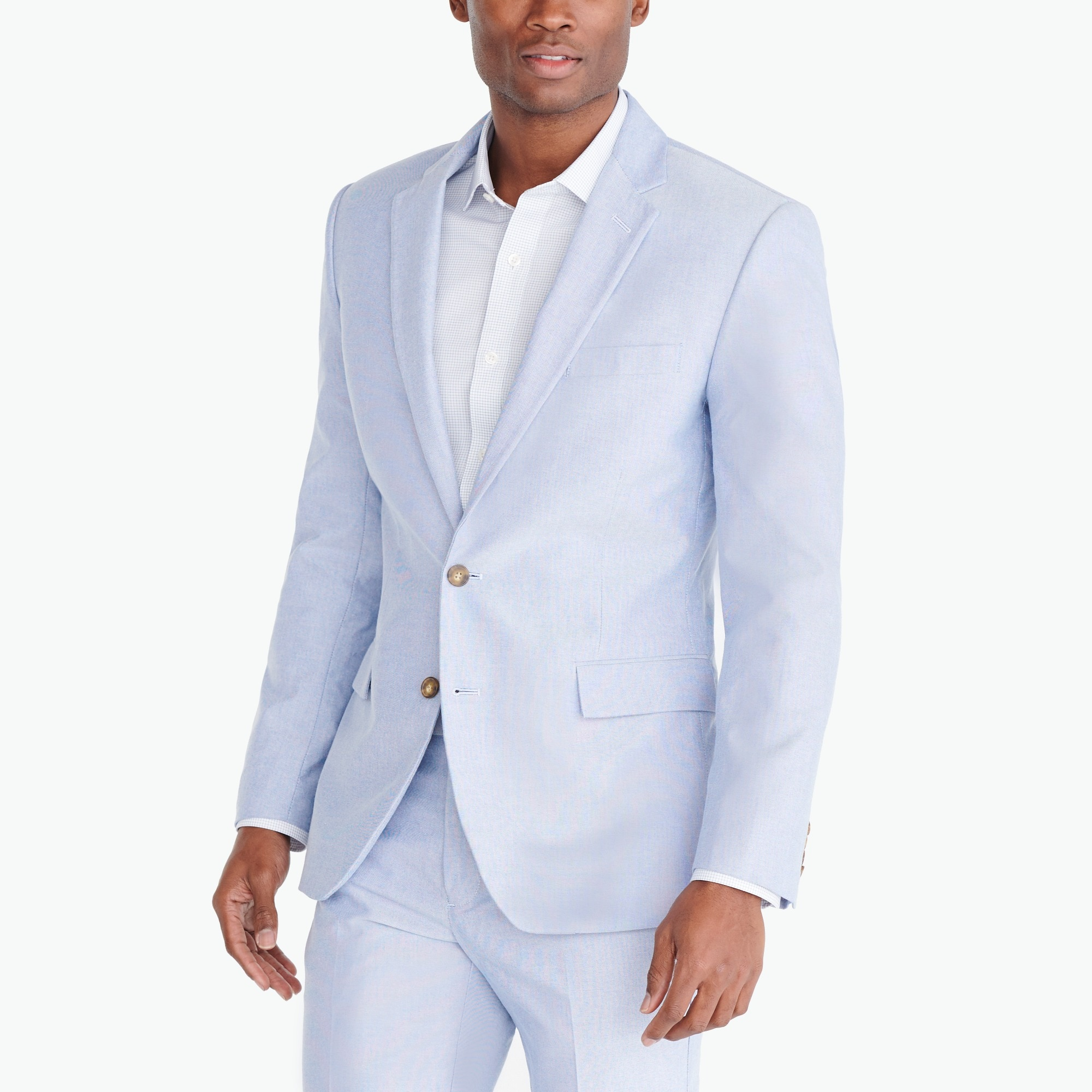 Image 1 for Slim-fit Thompson suit jacket in oxford cloth