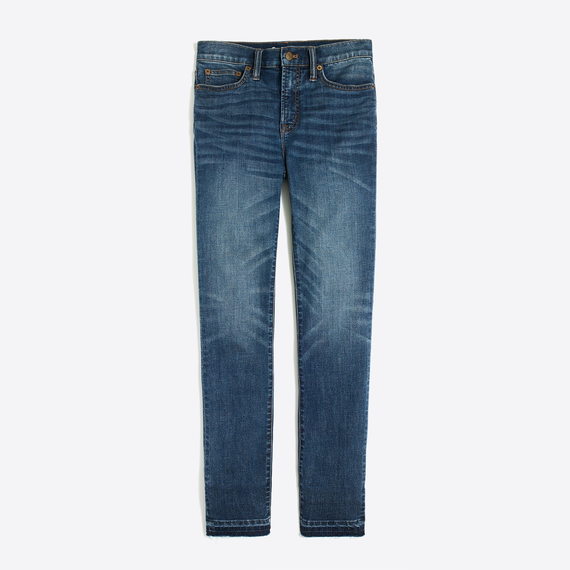 "8"" Mid-rise skinny jean with let-down hem"