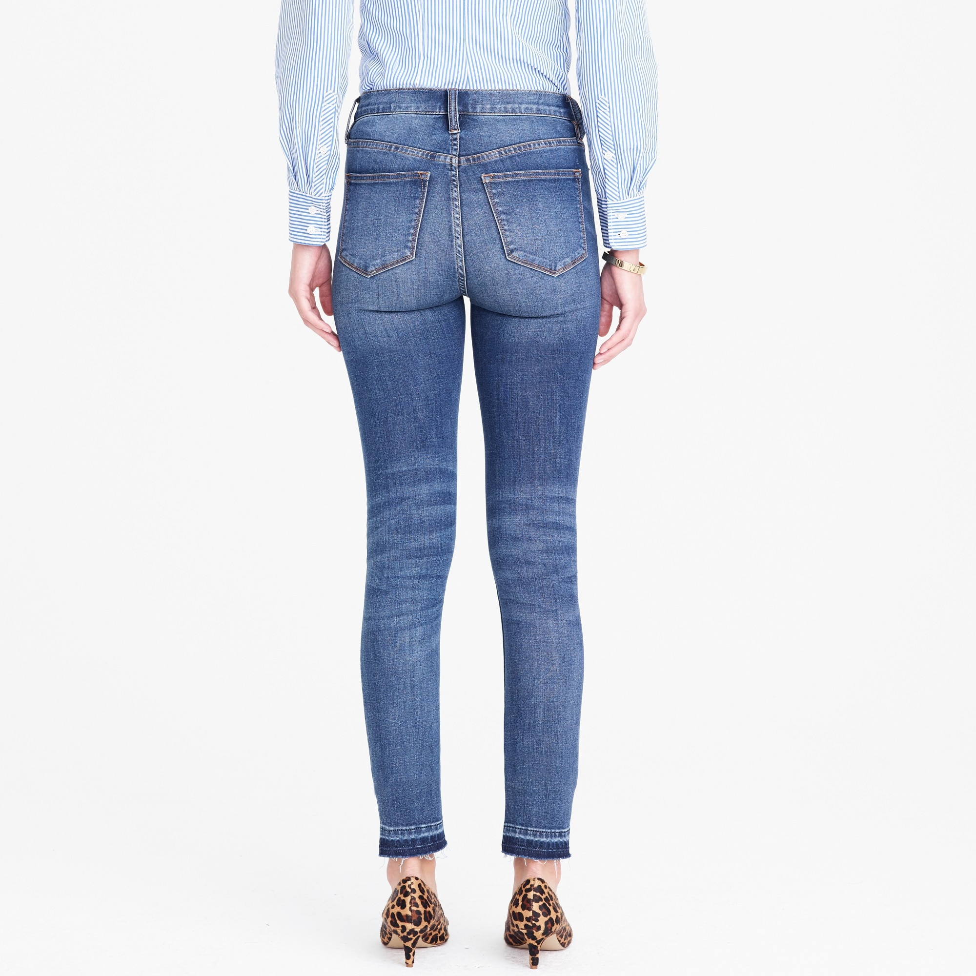 "Image 3 for 8"" Mid-rise skinny jean with let-down hem"