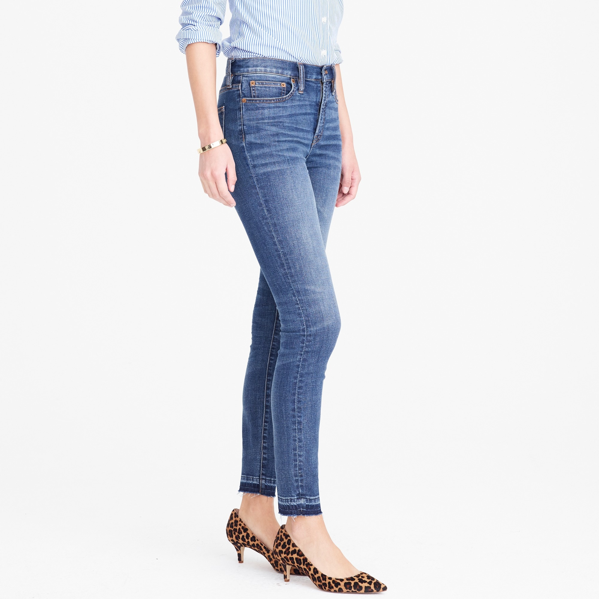 "Image 4 for 8"" Mid-rise skinny jean with let-down hem"