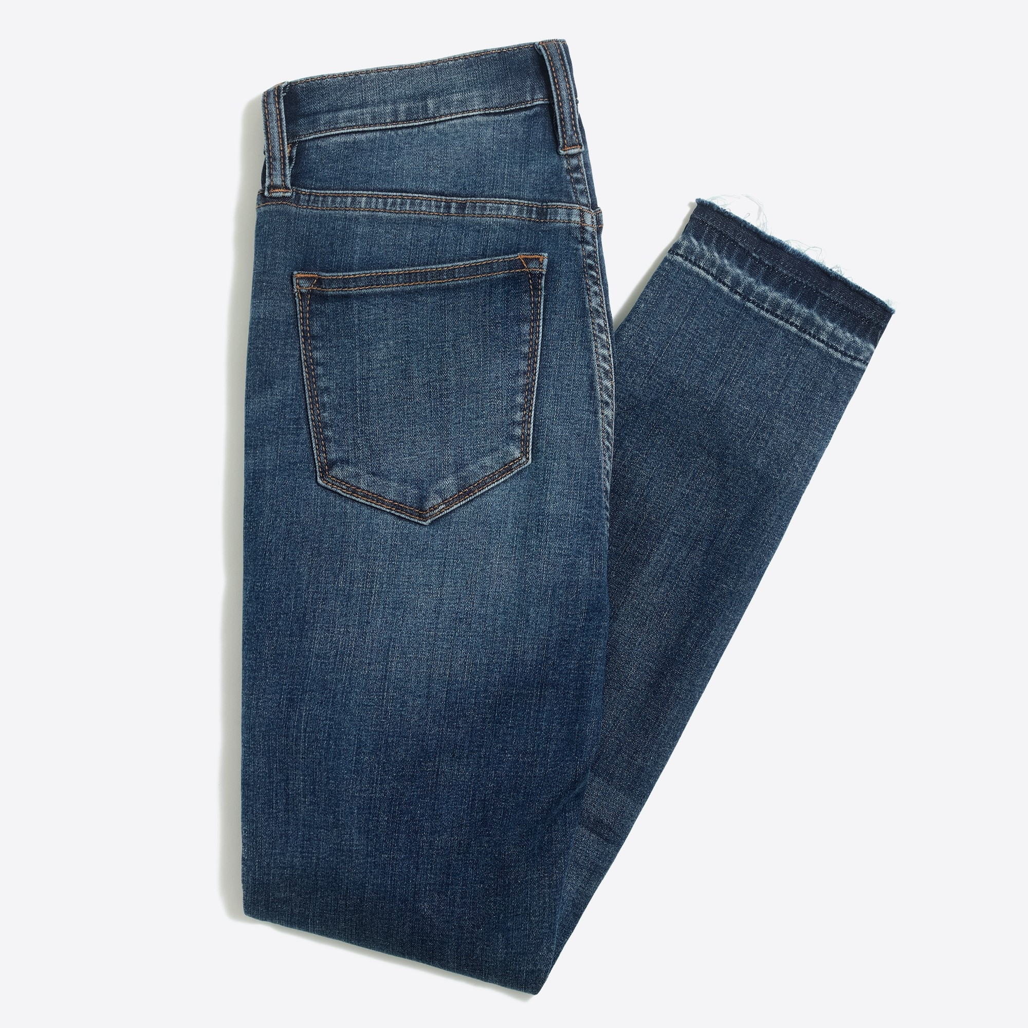 "Image 5 for 8"" Mid-rise skinny jean with let-down hem"