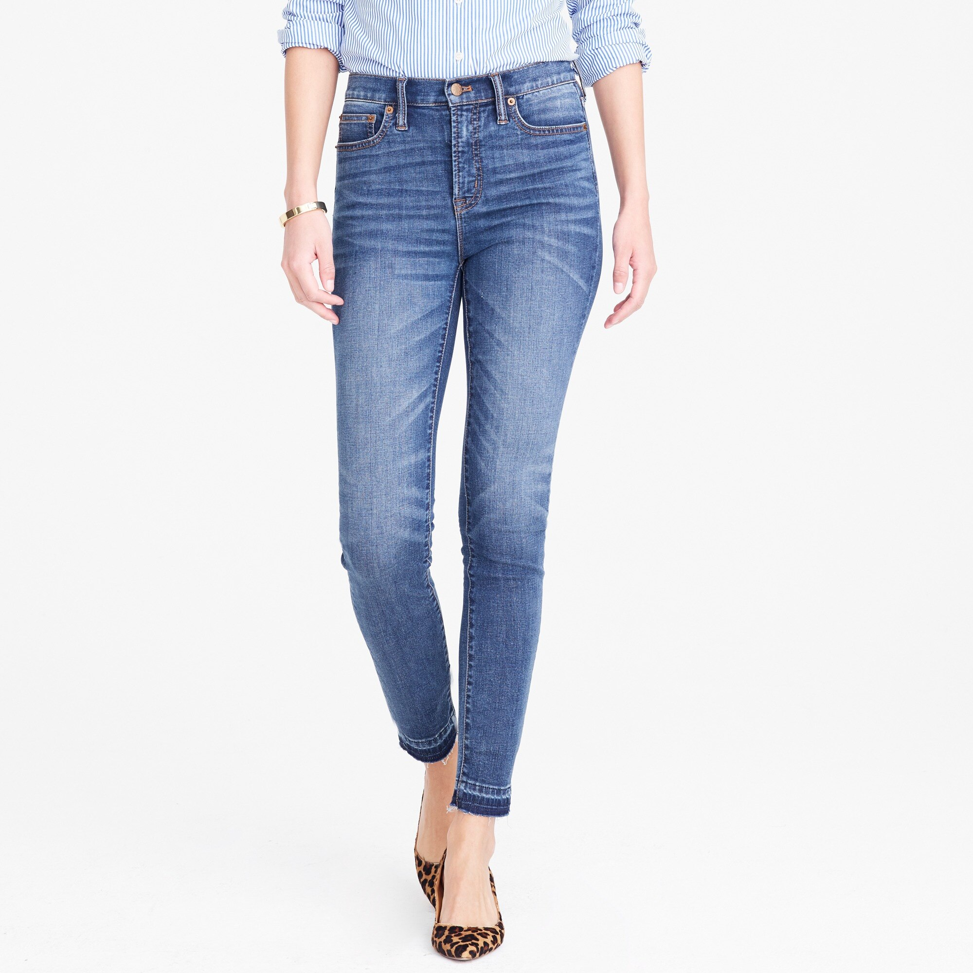 "Image 1 for 8"" Mid-rise skinny jean with let-down hem"