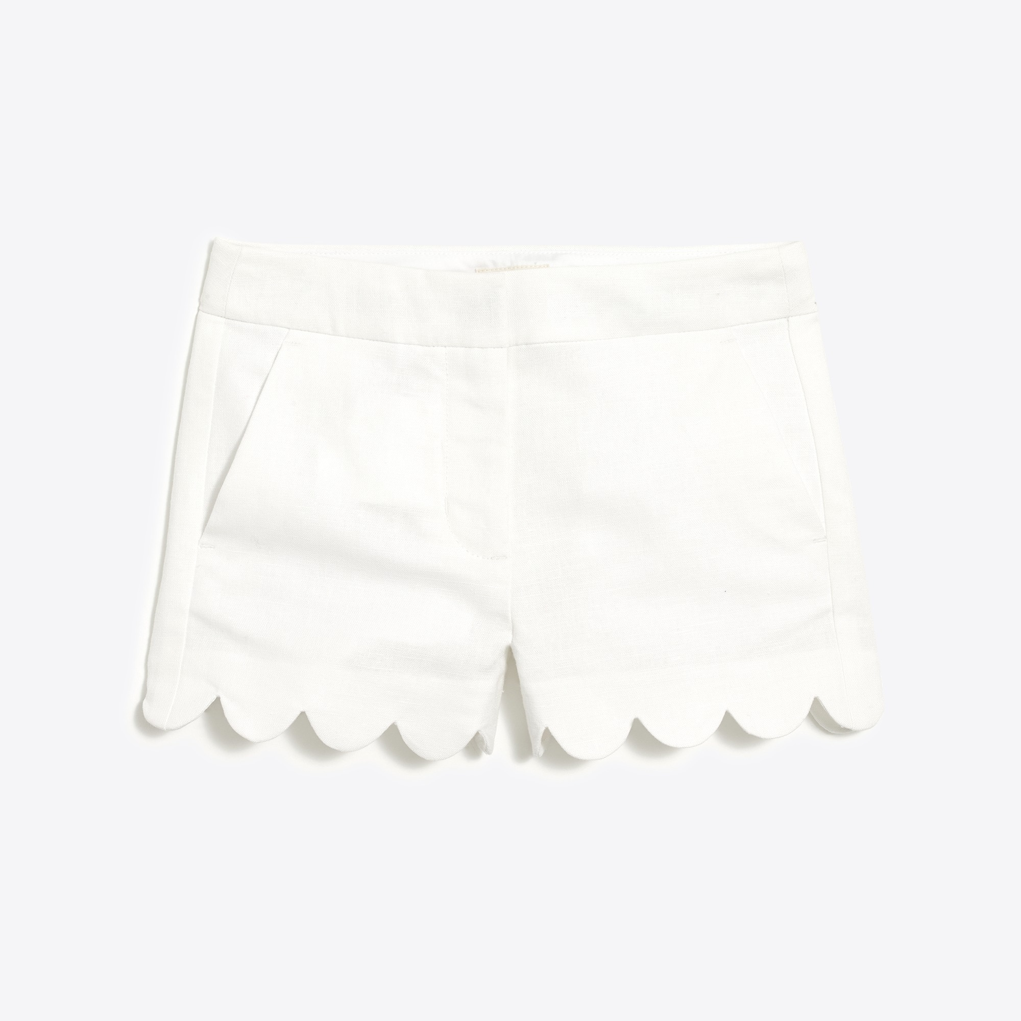 Girls' scallop-hem short factorygirls shorts & rompers c