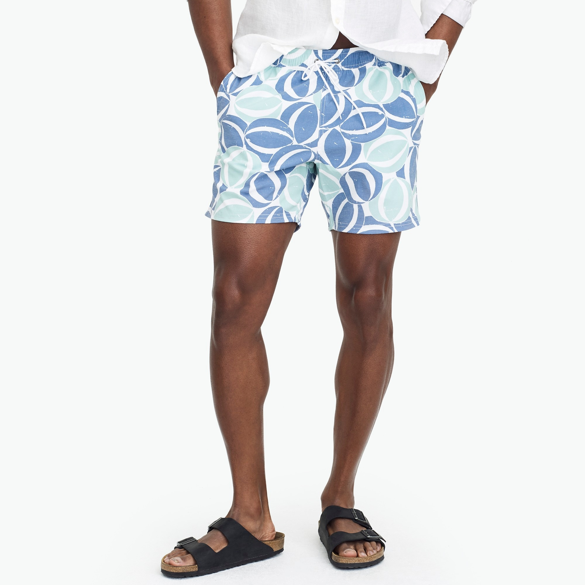 "6"" flex printed swim short factorymen swim c"