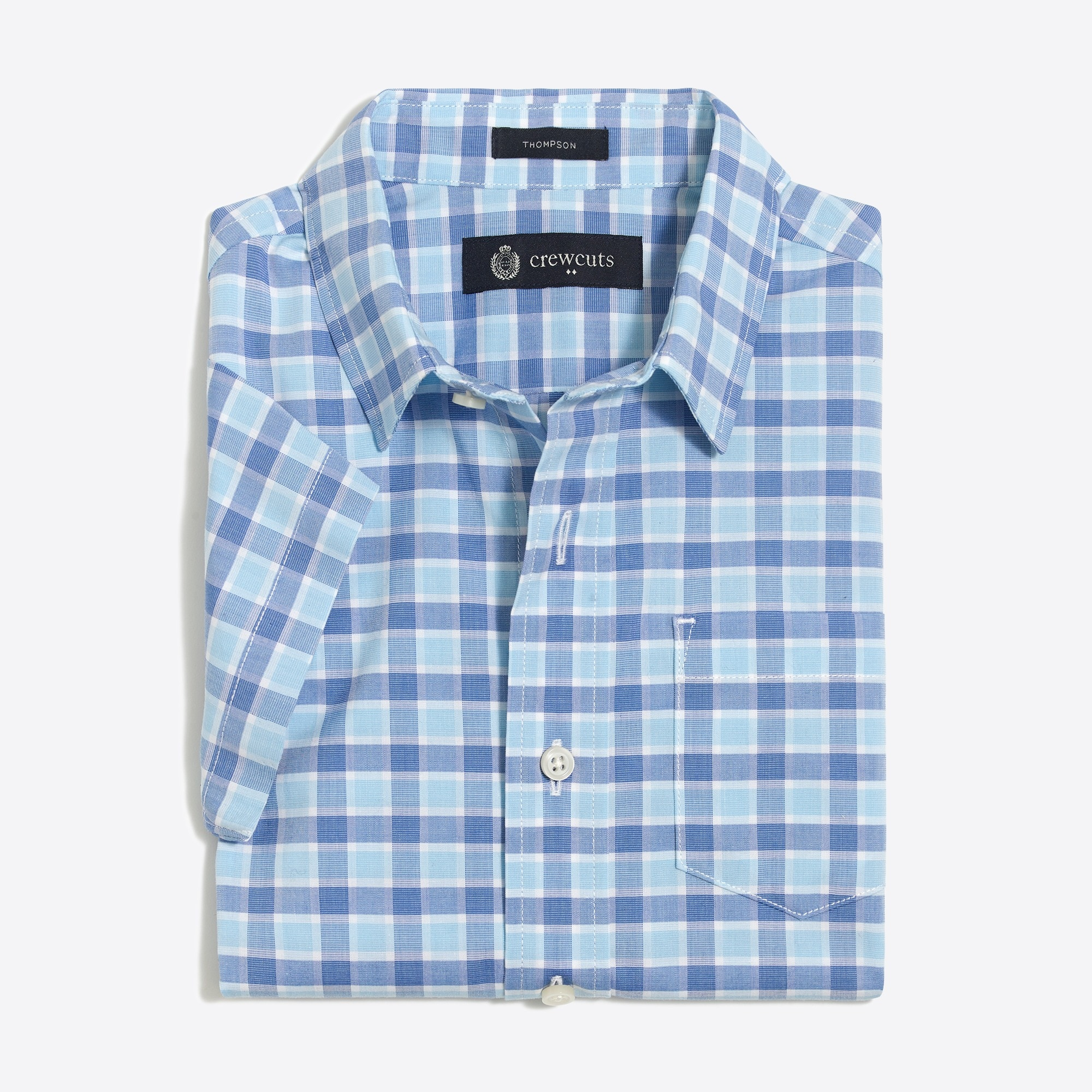Image 1 for Boys' short-sleeve Thompson point-collar shirt