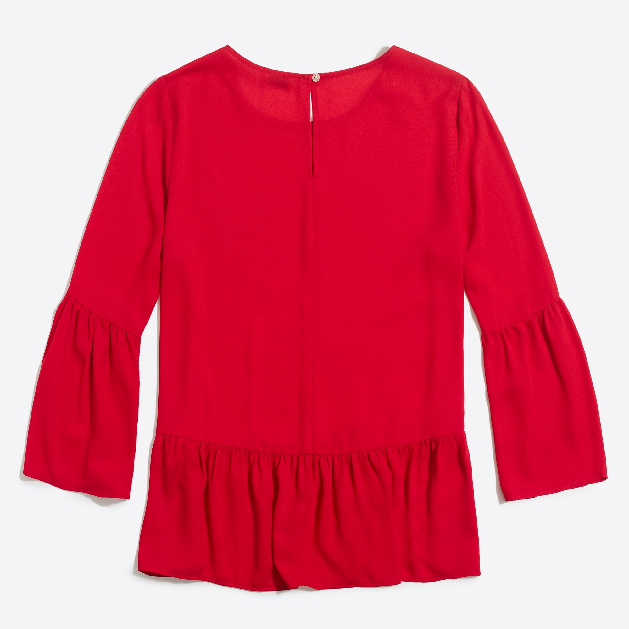 Bell-sleeve peplum top