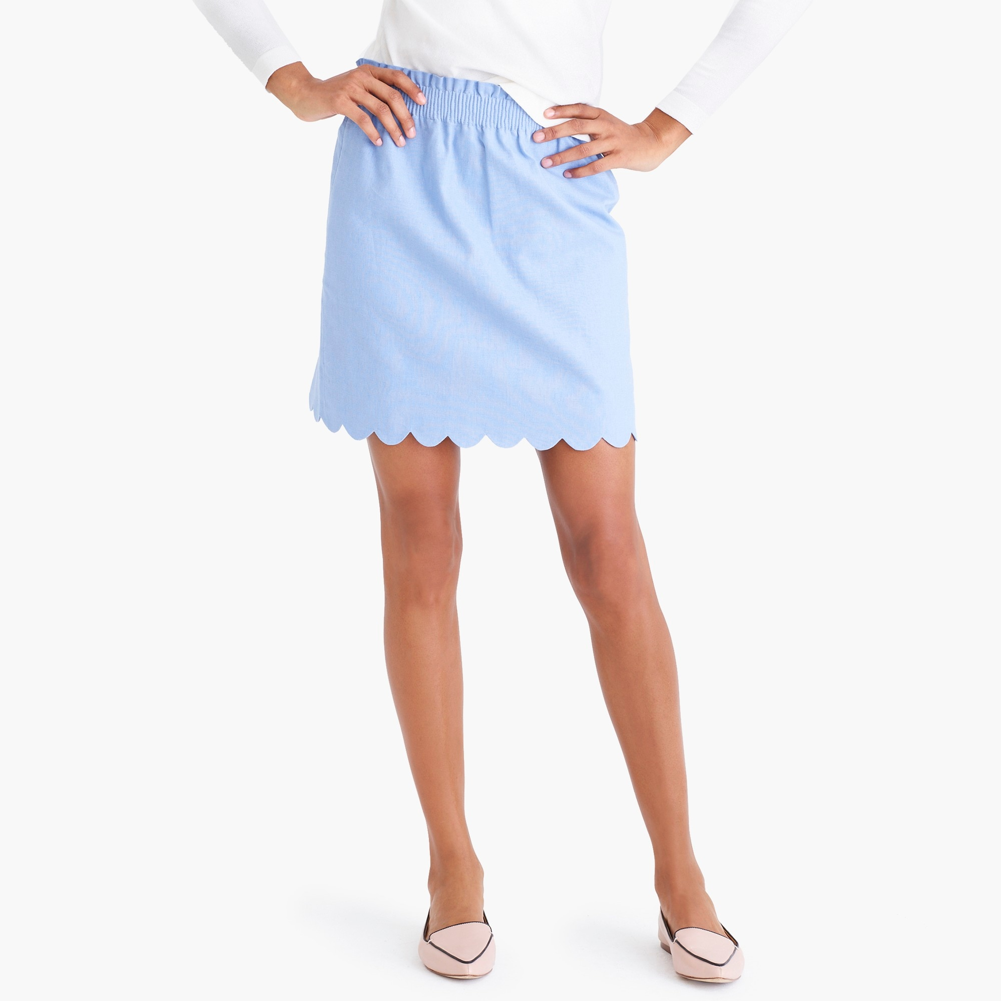 factory womens Scalloped sidewalk skirt