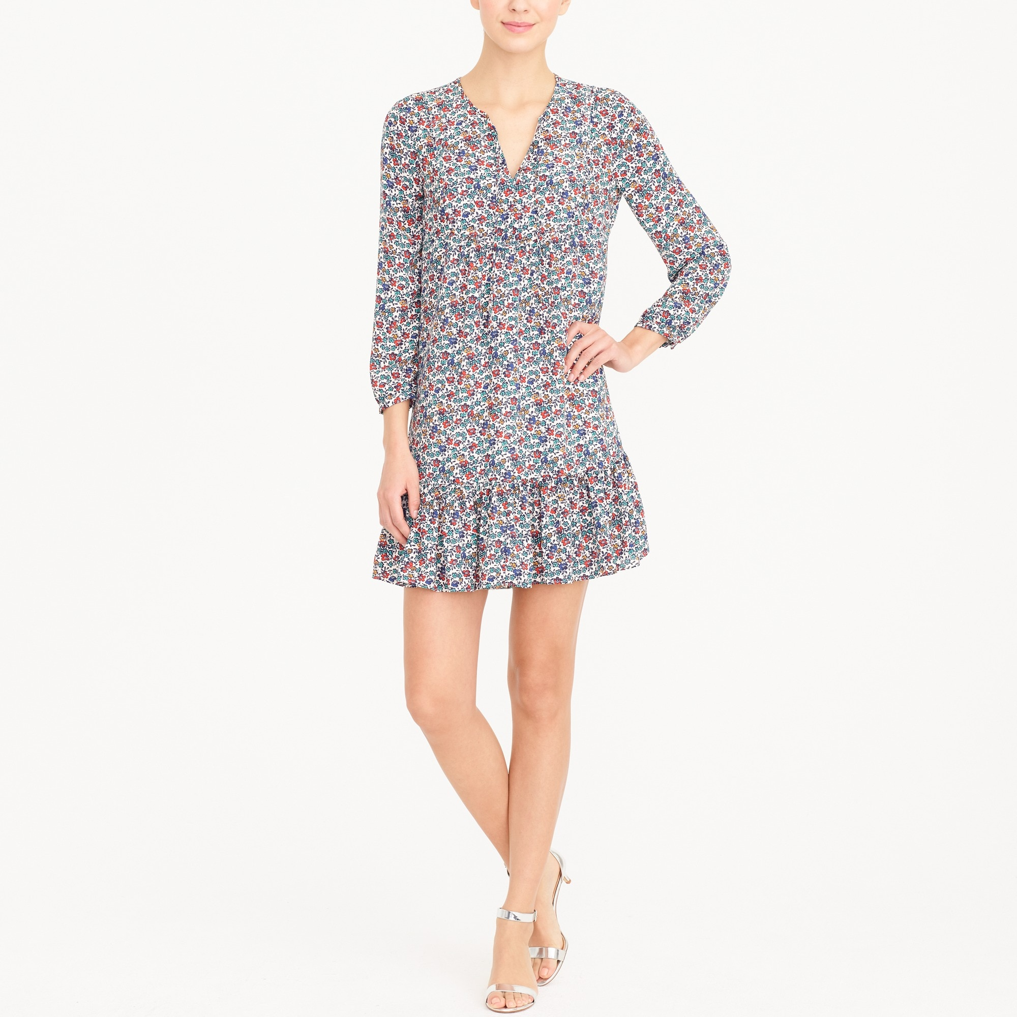 Relaxed printed dress factorywomen new arrivals c