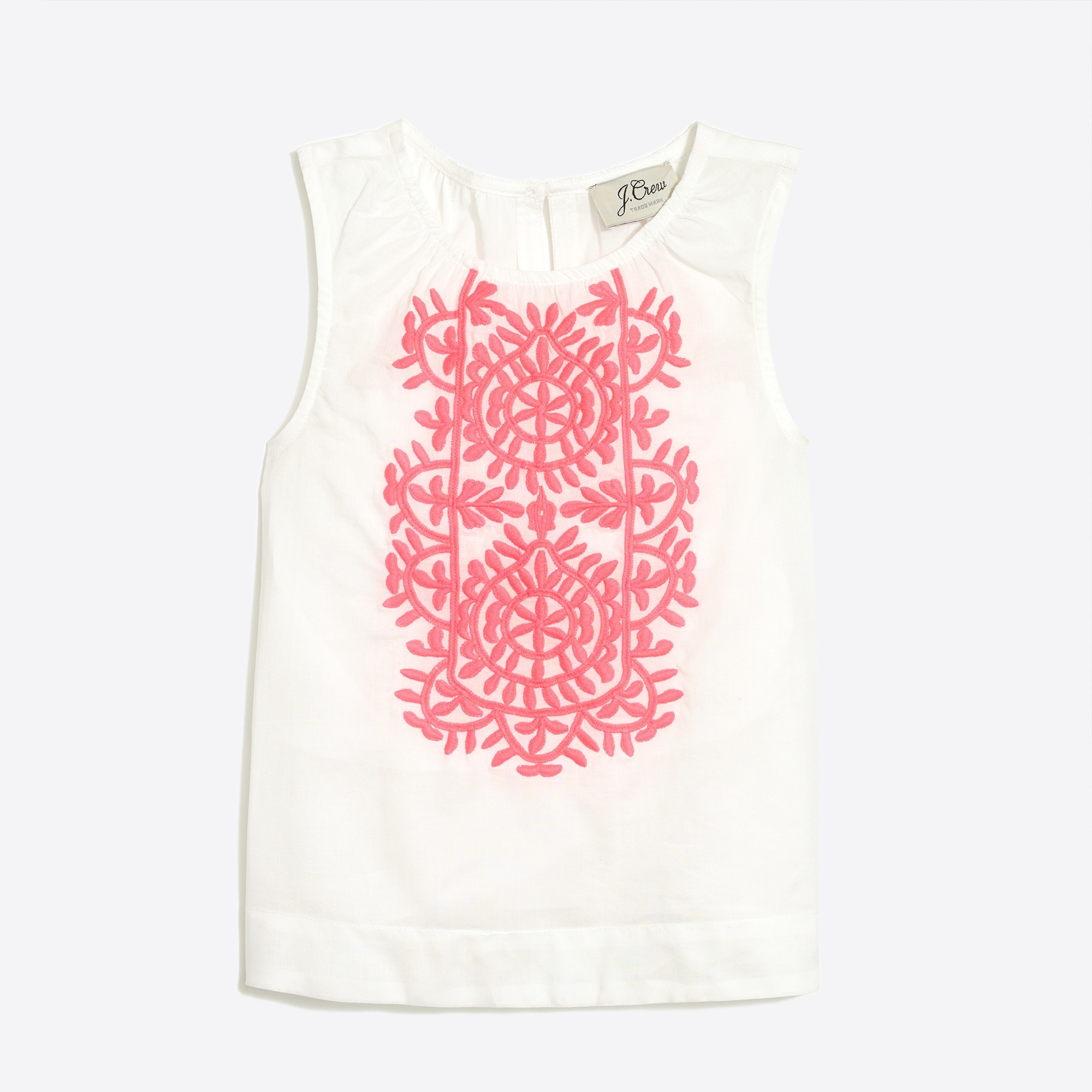 girls' embroidered cotton shell : factorygirls shirts & tops