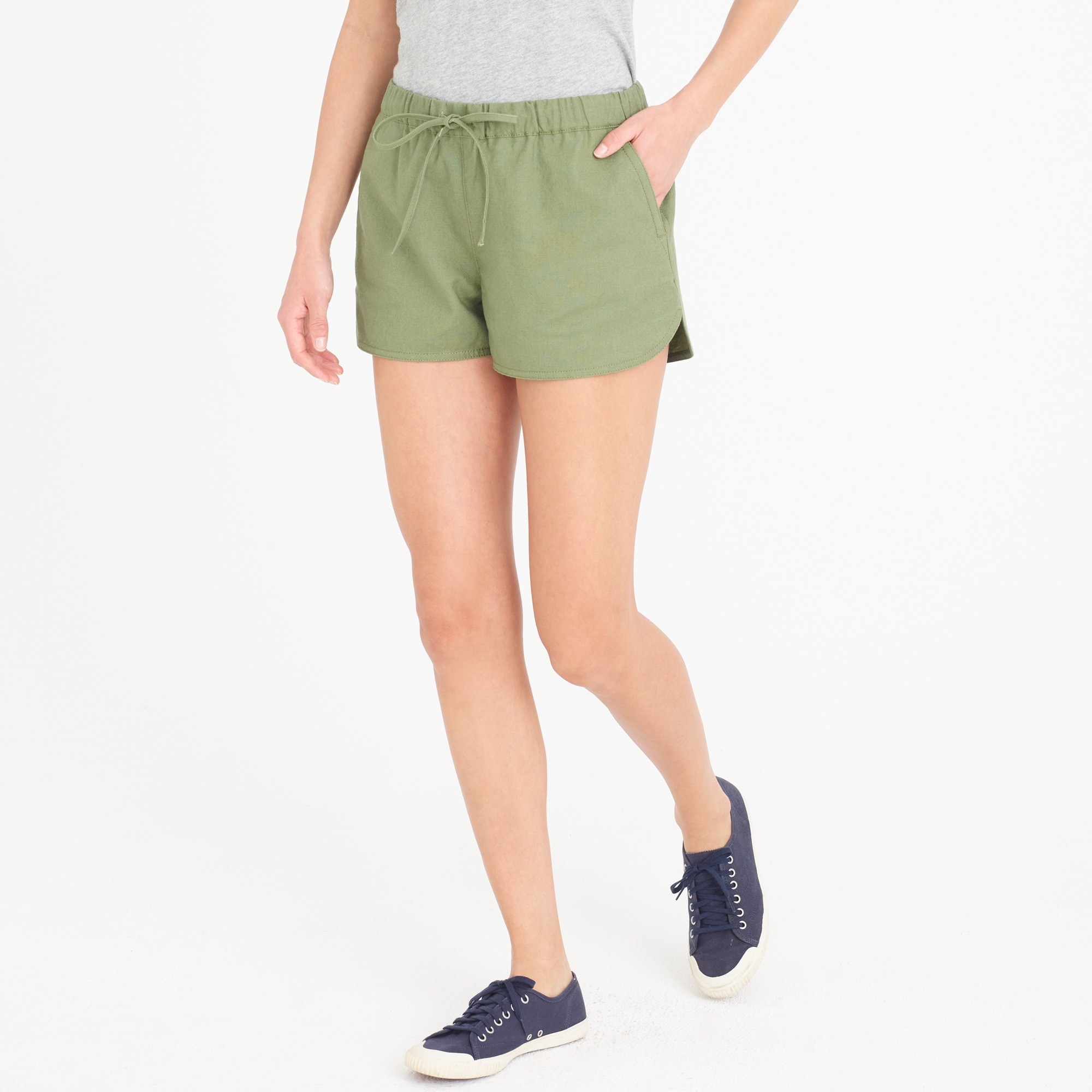 drawstring short : factorywomen pull-on