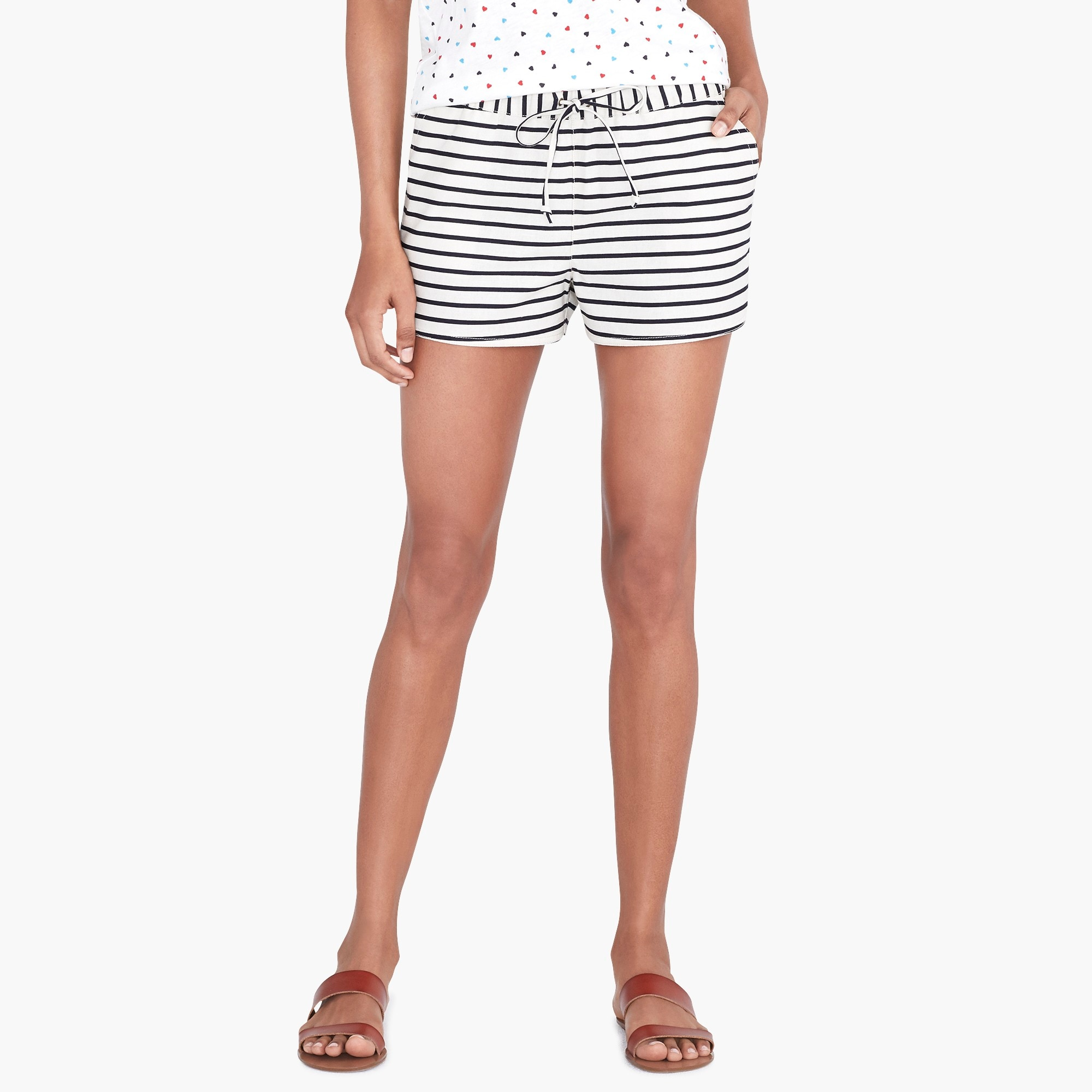 factory womens Striped drawstring short