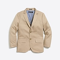 Boys' Thompson suit jacket in flex chino