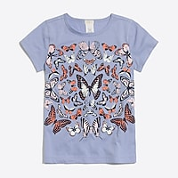 Image 1 for Girls' butterfly graphic T-shirt