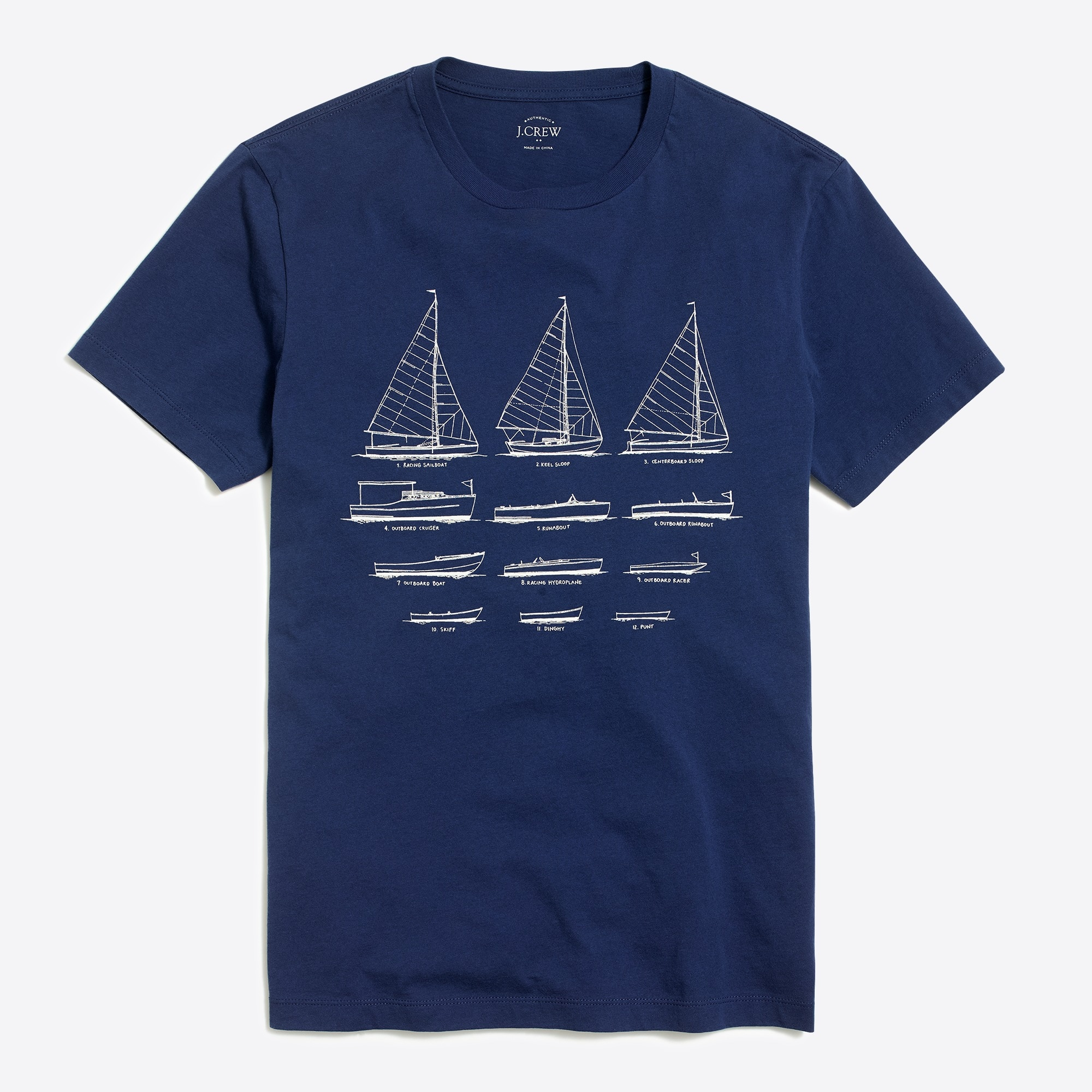 J.Crew Mercantile Broken-in boat graphic T-shirt