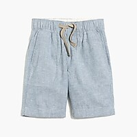 Image 2 for Boys' pull-on short in linen-cotton