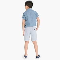 Boys' pull-on short in linen-cotton