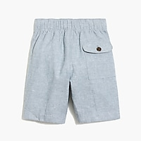Image 4 for Boys' pull-on short in linen-cotton