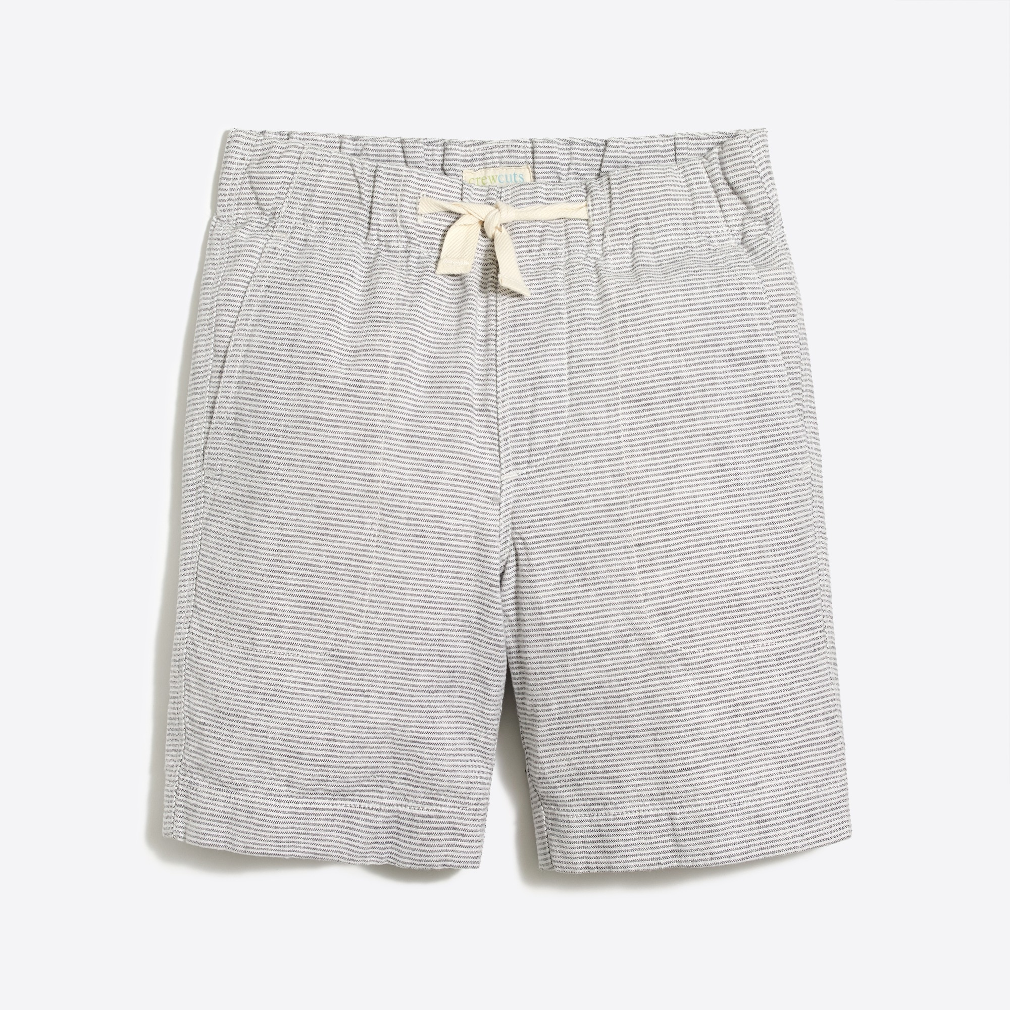 Boys' pull-on short in linen-cotton factoryboys the camp shop c