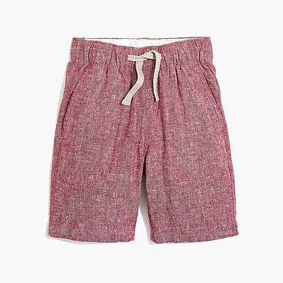factory boys Boys' pull-on short in linen-cotton