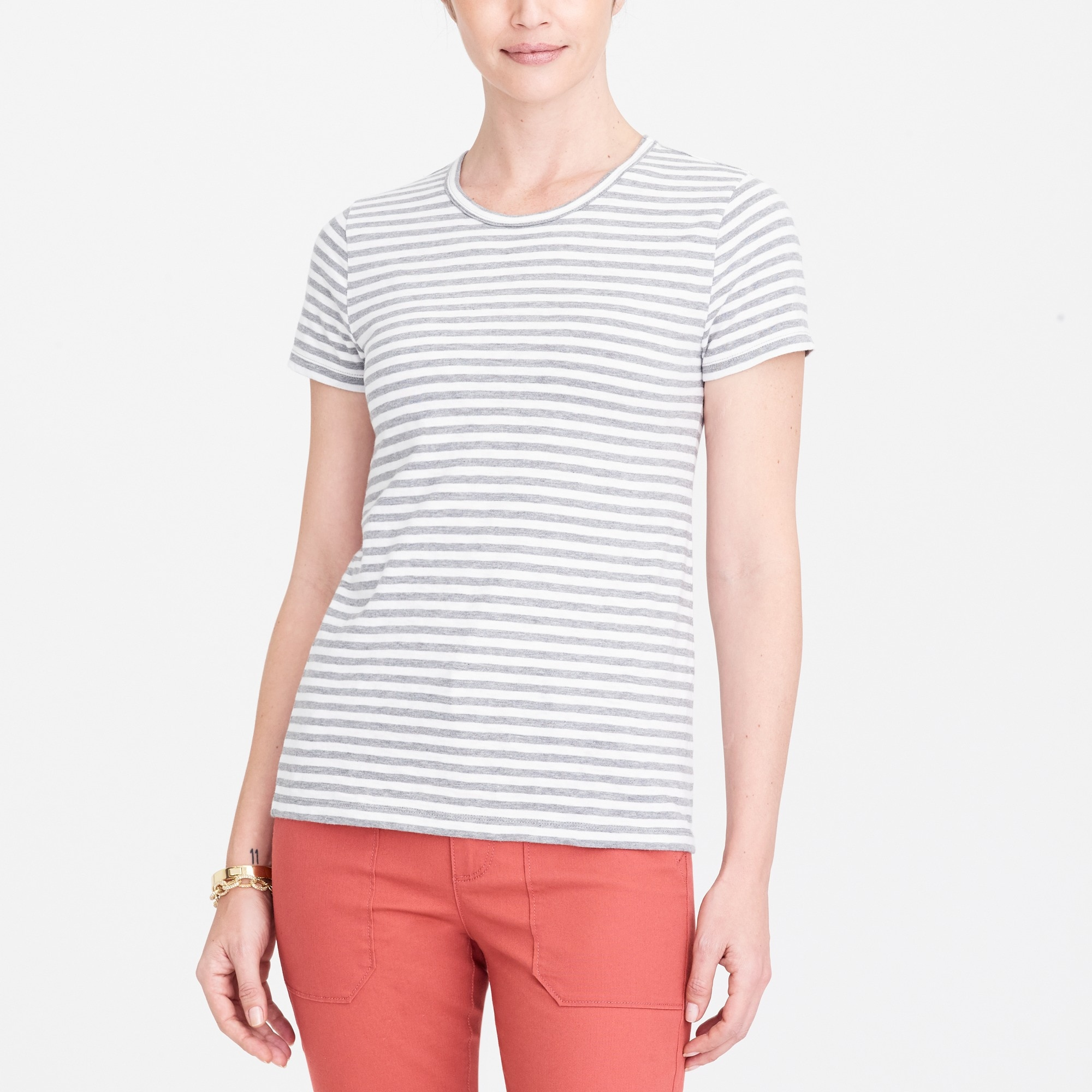 J.Crew Mercantile Striped Studio T-Shirt factorywomen new arrivals c