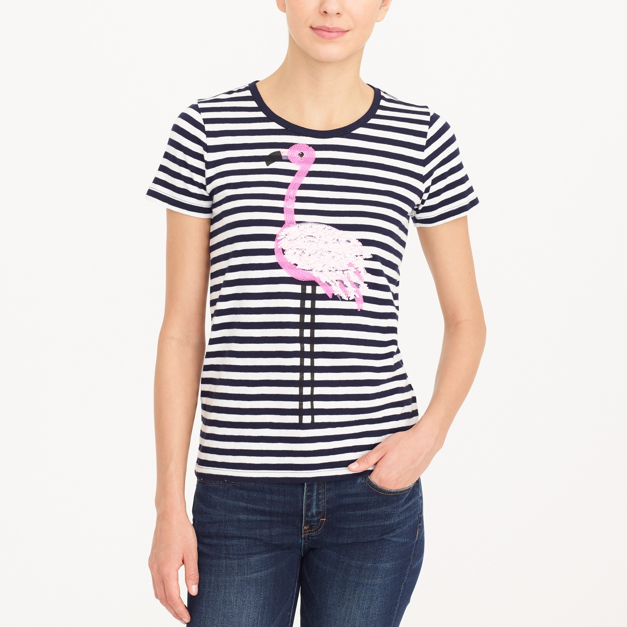 flamingo striped collector t-shirt : factorywomen graphic & collector t-shirts