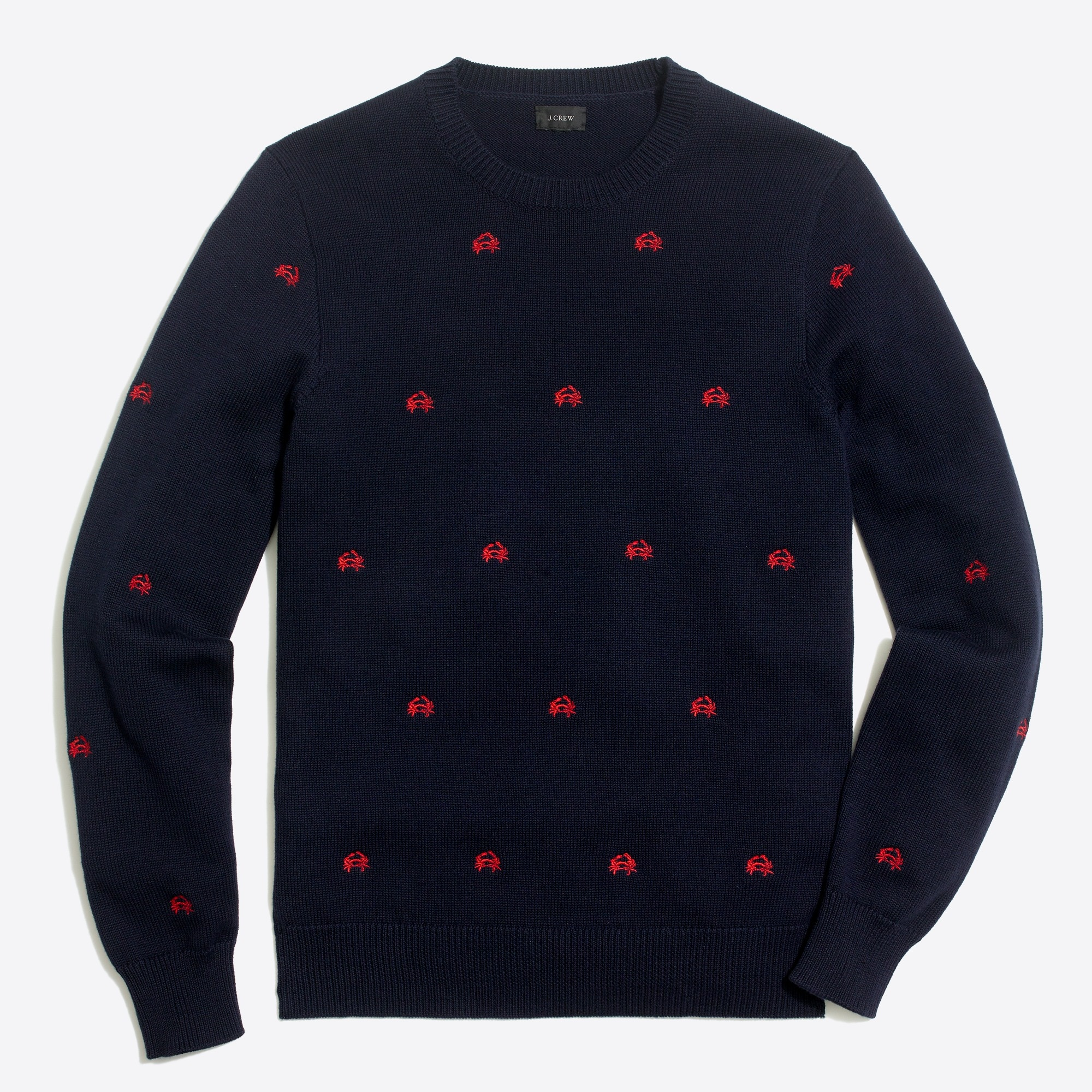 Embroidered crab sweater