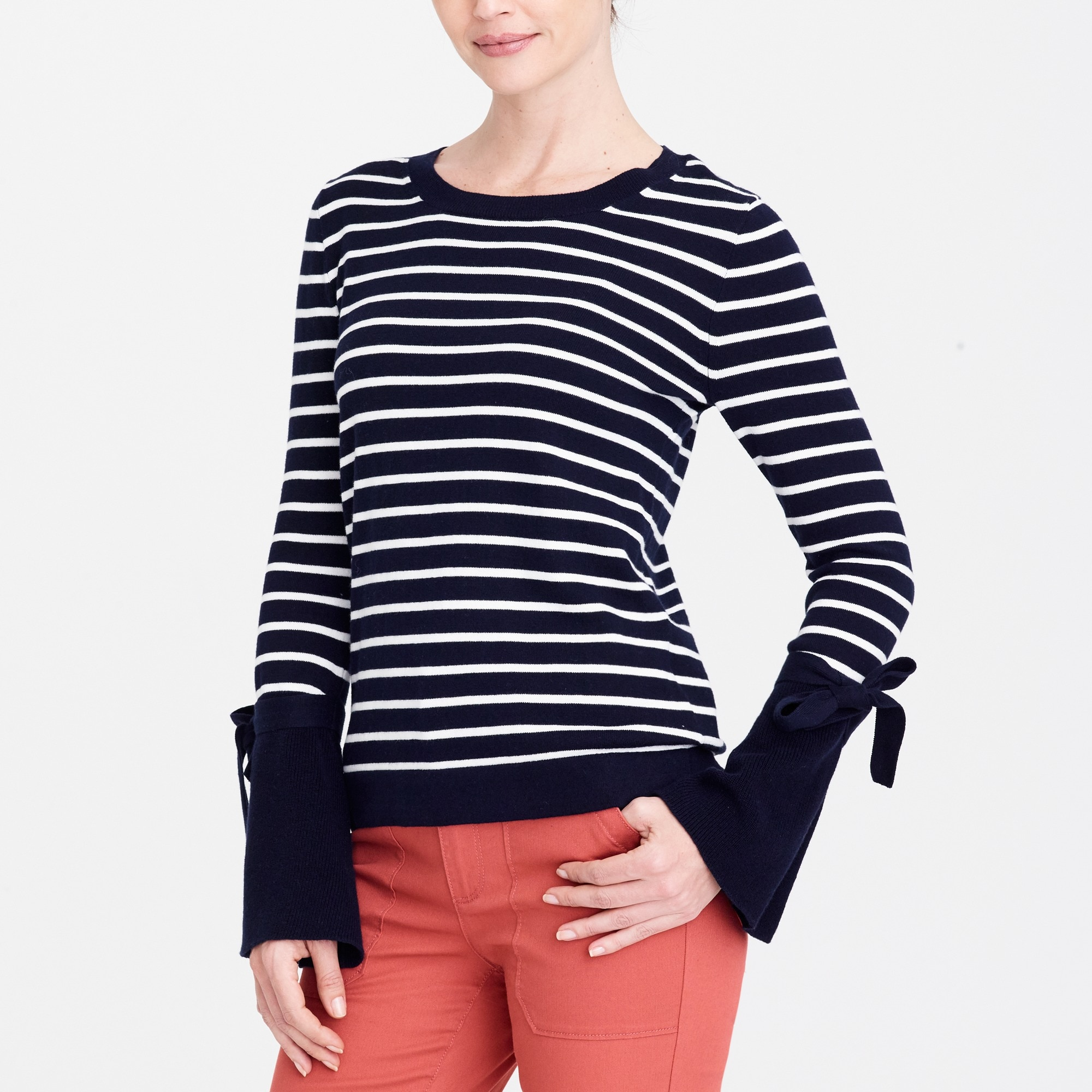 tie bell-sleeve sweater : factorywomen pullovers