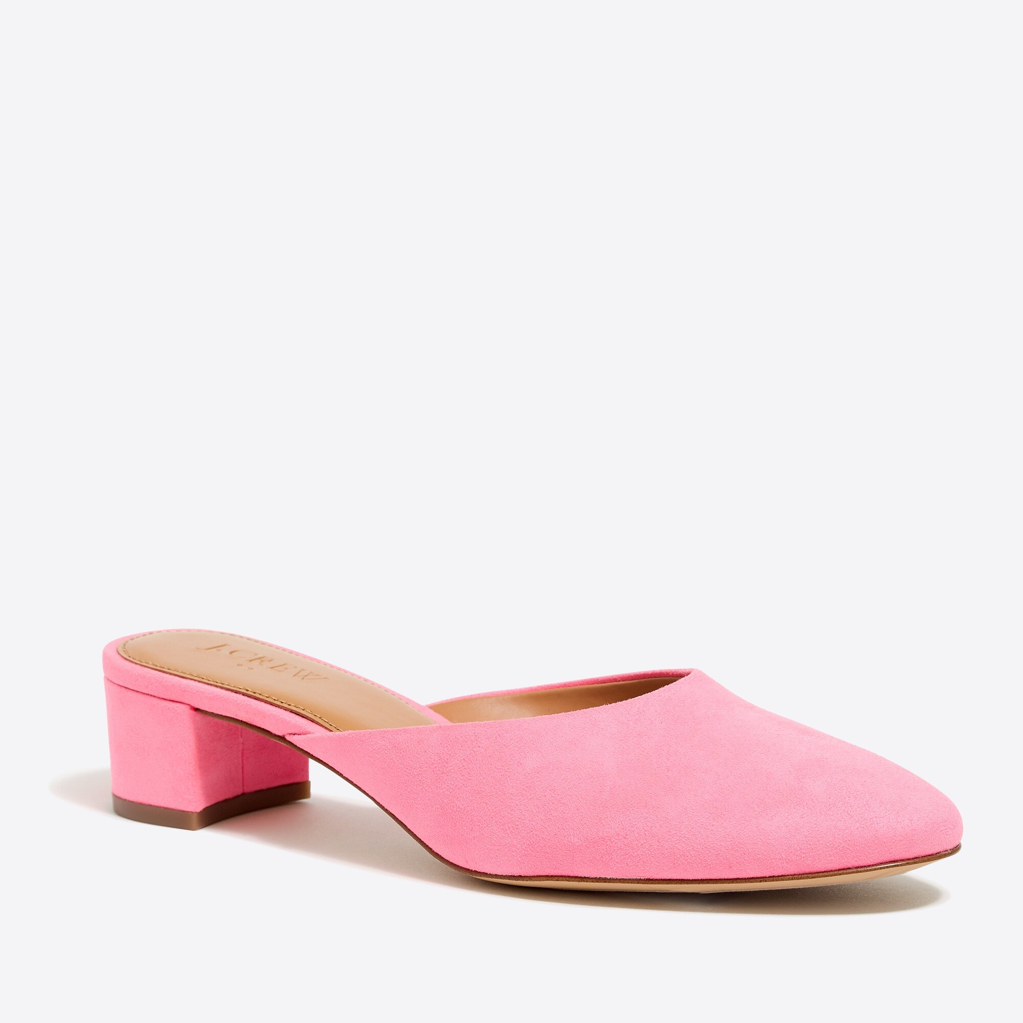 Suede block heel mules factorywomen shoes c
