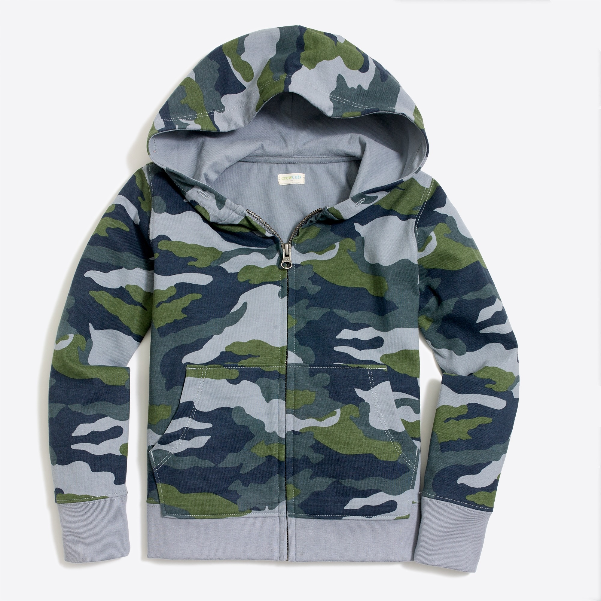 j.crew factory: boys' camo full-zip hoodie