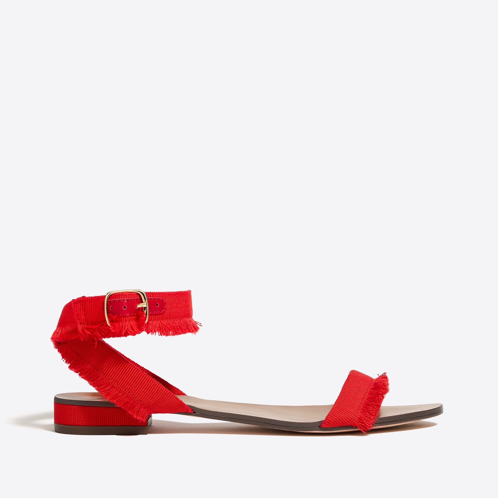 Image 3 for Raw-edge grosgrain sandals