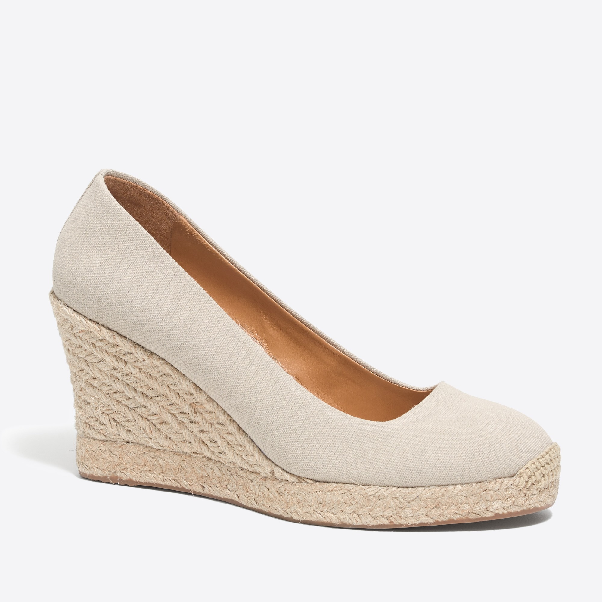 factory womens Canvas espadrille wedges