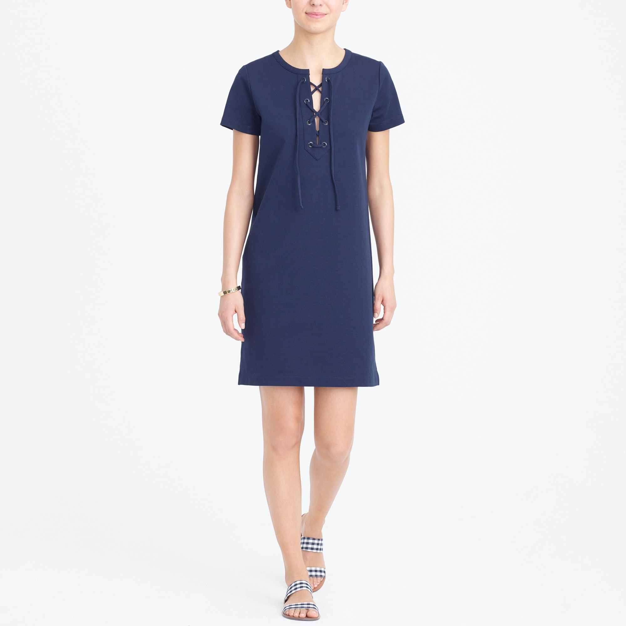 Image 1 for Lace-up knit dress